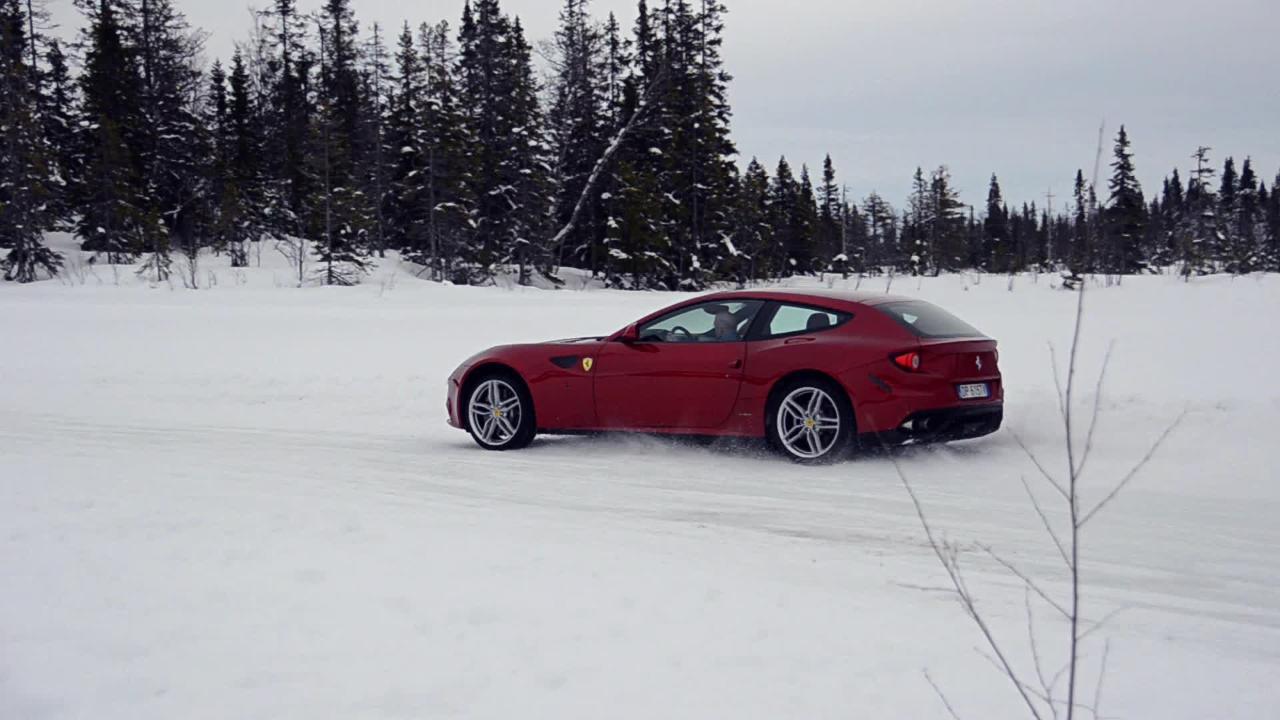 Top Gear On Ice Ferrari FF vs Bentley | Top Gear
