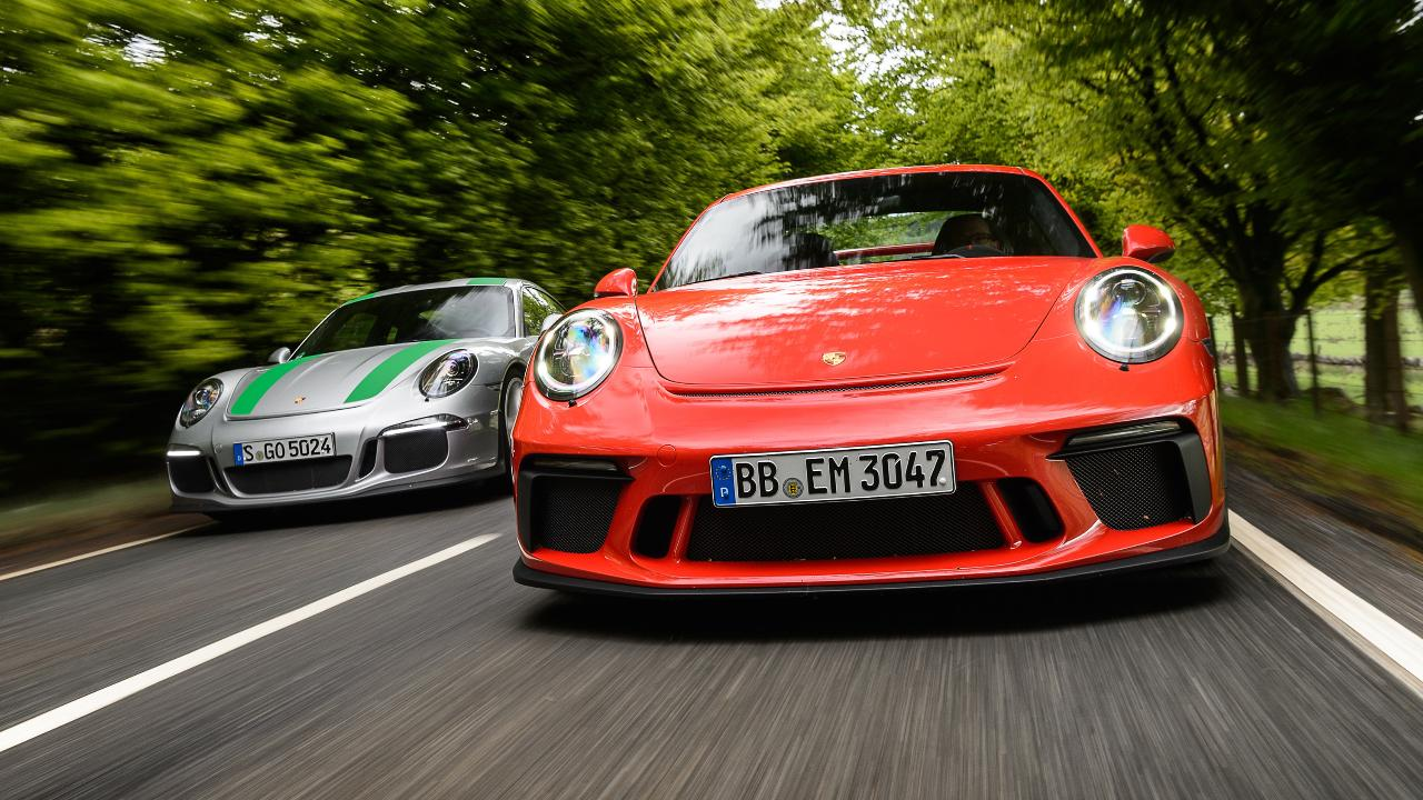 video: porsche 911 r vs 911 gt3 manual | top gear