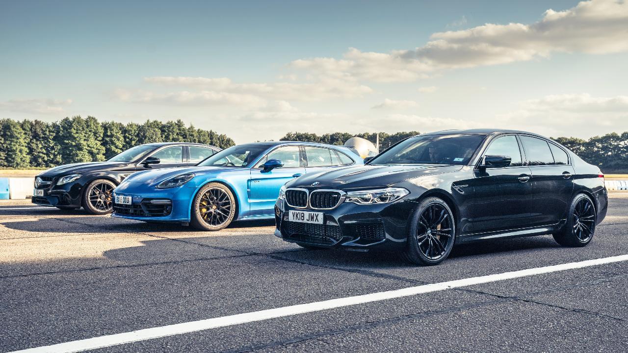 Top Gear Drag Races Bmw M5 Vs Merc Amg E63 Vs Panamera Turbo S