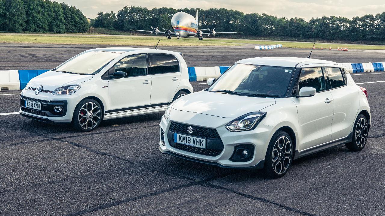 TG drag races: VW Up GTI vs Suzuki Swift Sport | Top Gear