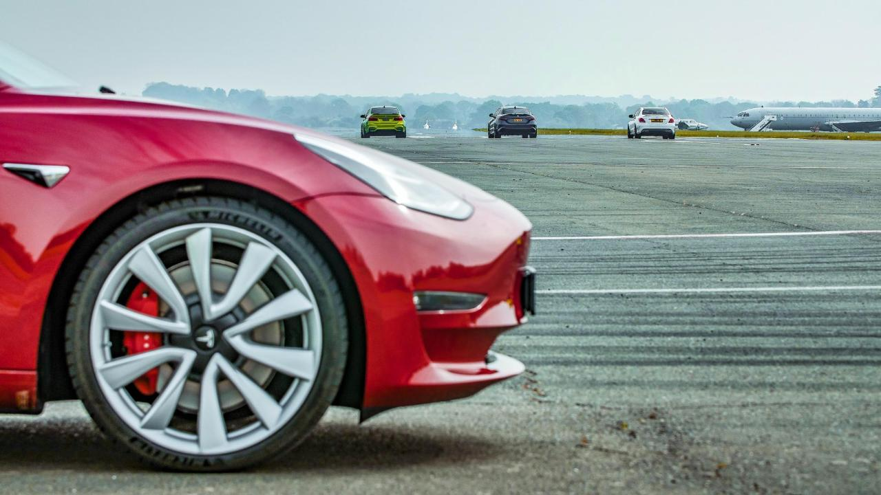 TG TV ep2, s27: Tesla Model 3 drag race vs rivals | Top Gear