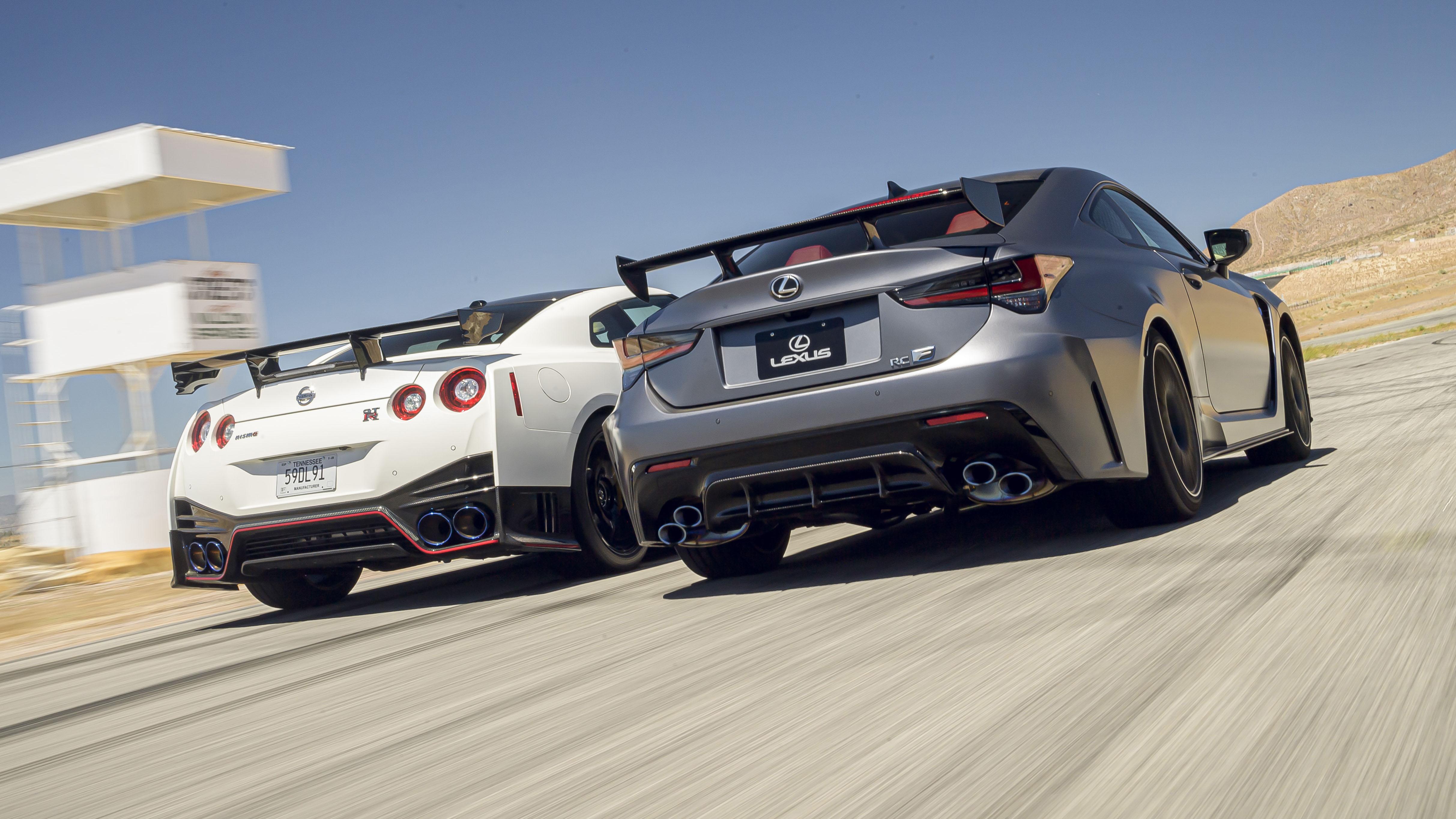 Nissan GT-R và Lexus RC-F Top Gear