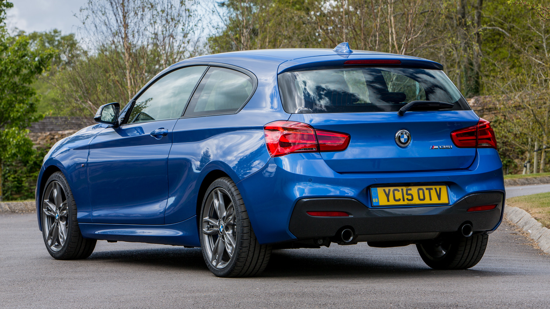 BMW M135i blue rear