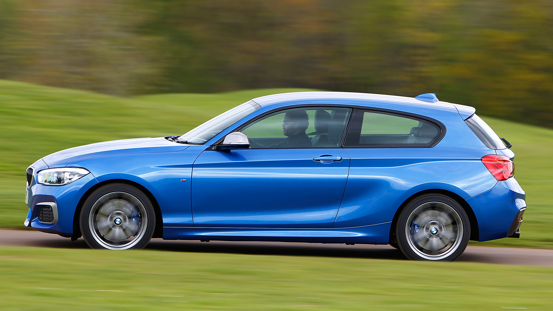 BMW M135i blue side