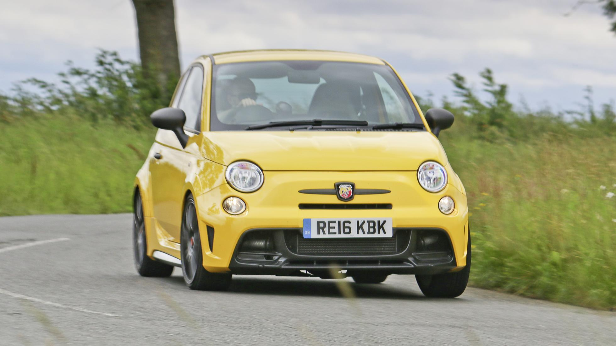 Abarth 500 yellow front