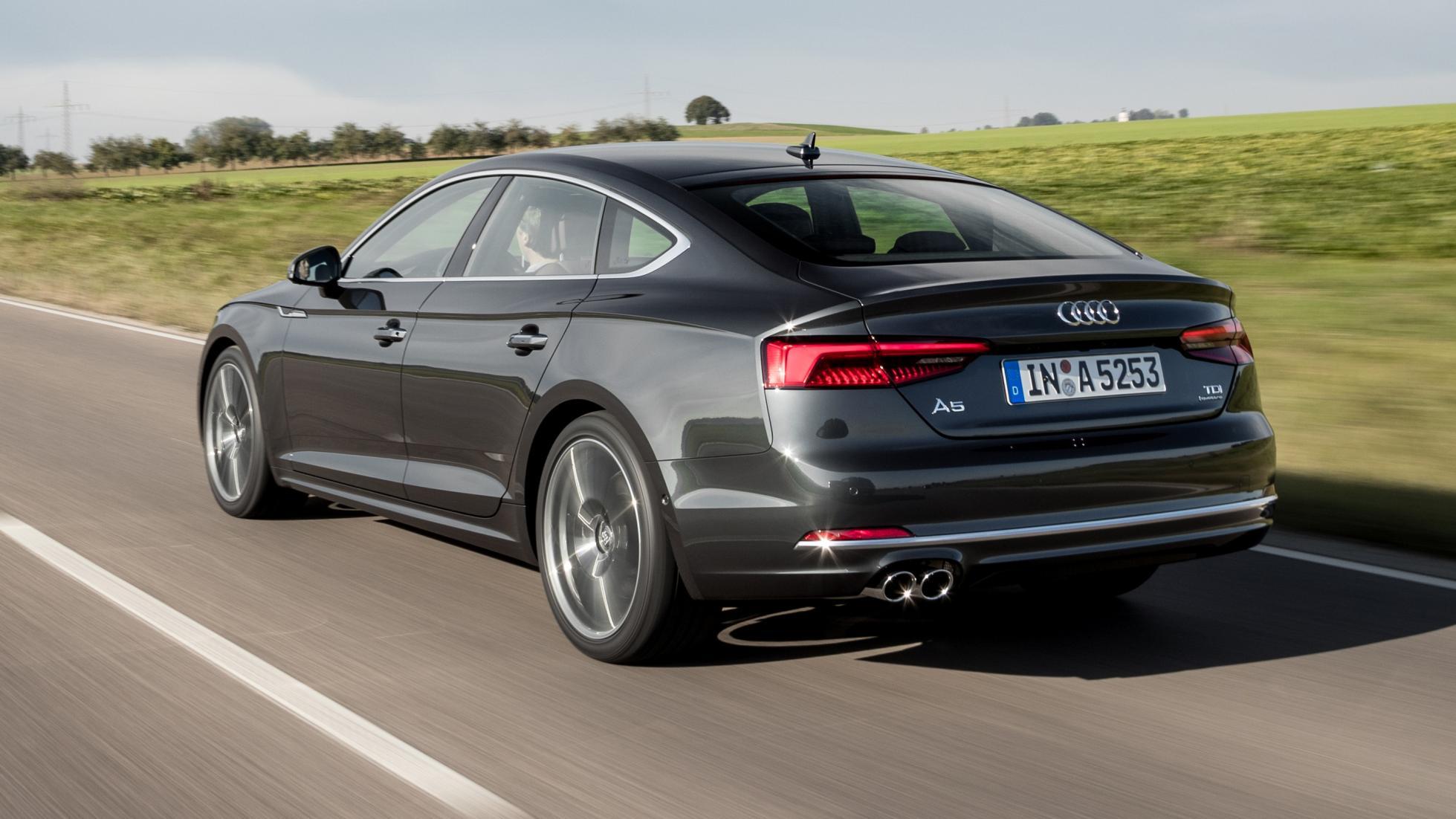 Audi A5 Sportback black rear quarter