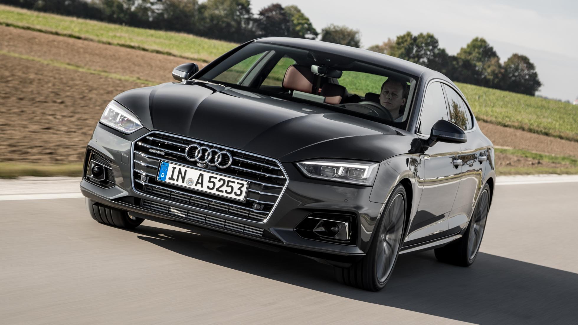 Audi A5 Sportback black front