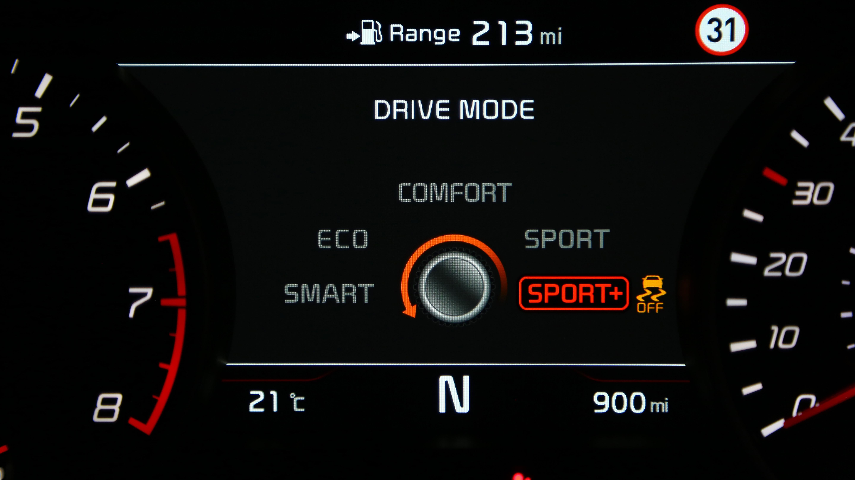 Kia Stinger drive mode
