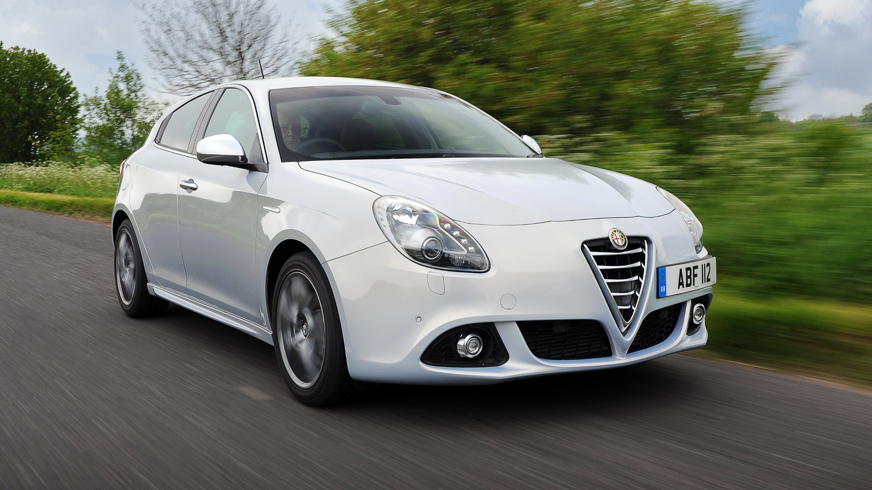 Alfa Romeo Guilietta white front quarter