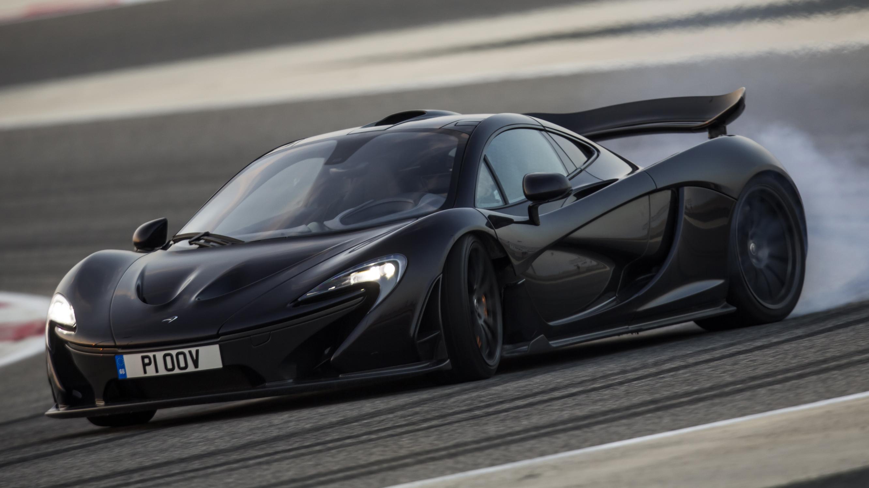 McLaren P1 black sideways
