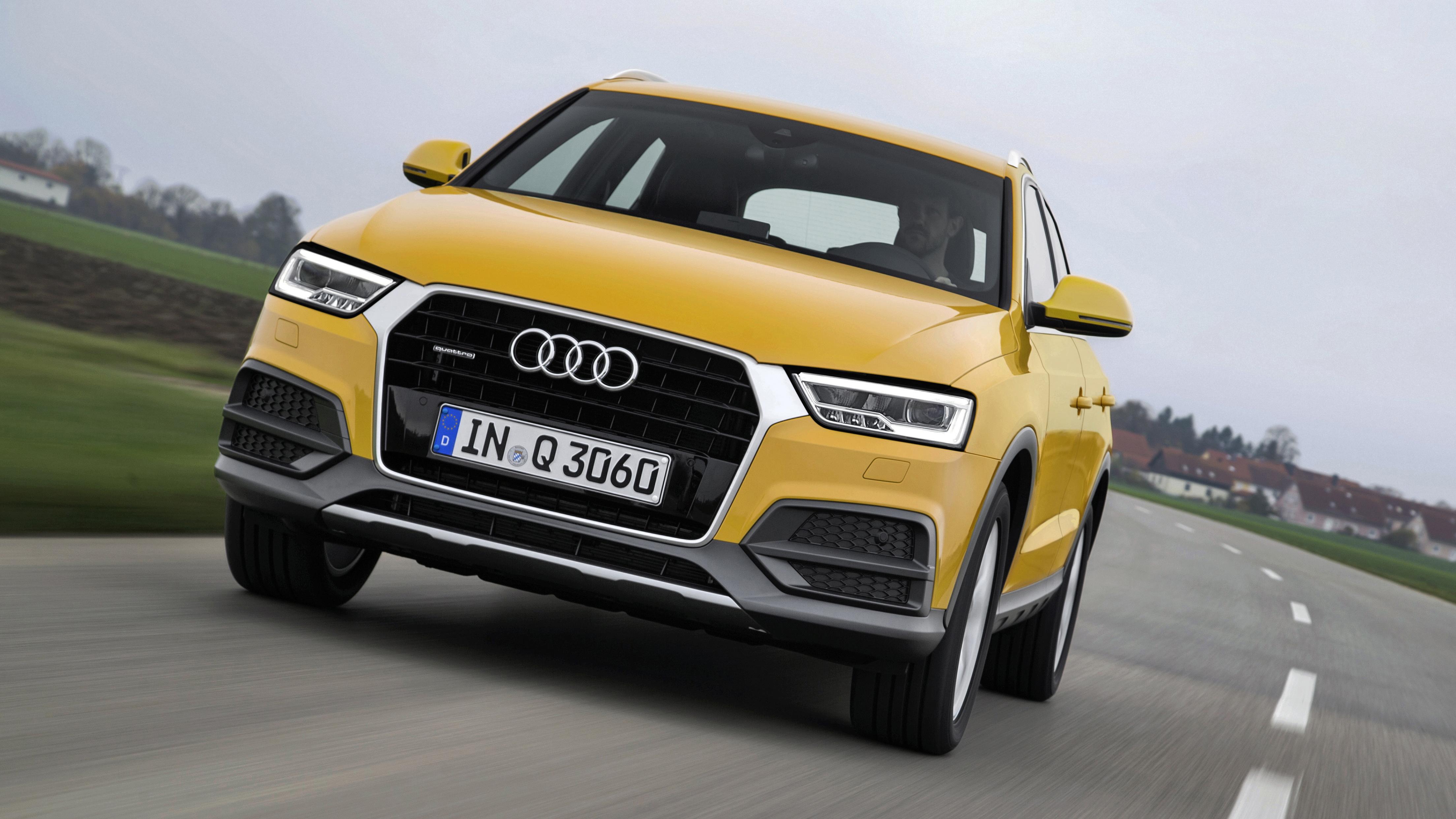 Audi Q3 yellow front
