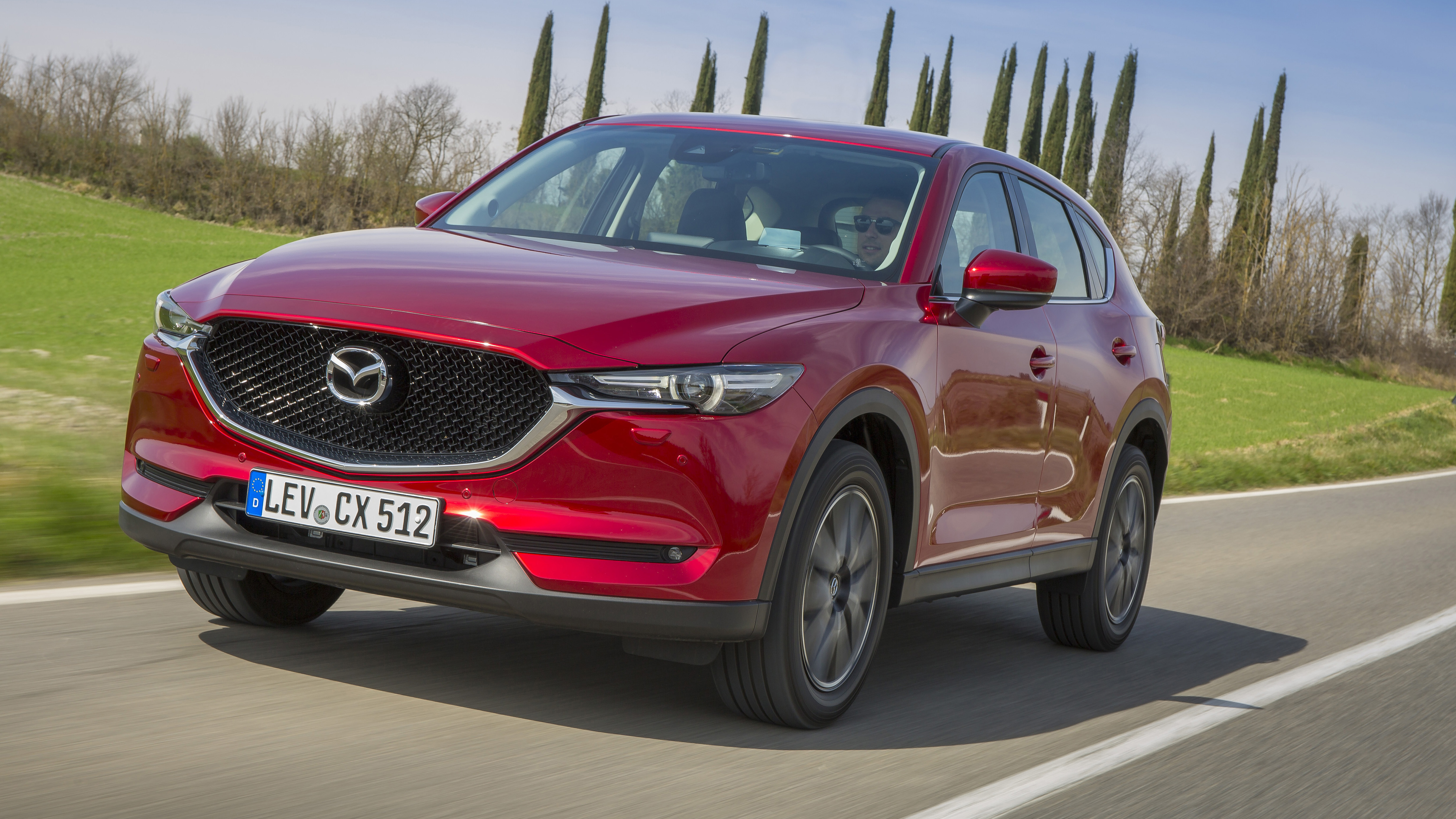 Mazda CX-5 red front three quarters