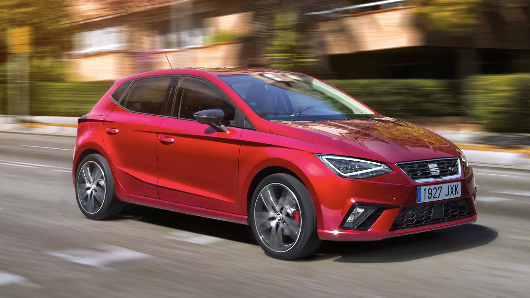 Seat Ibiza FR red side