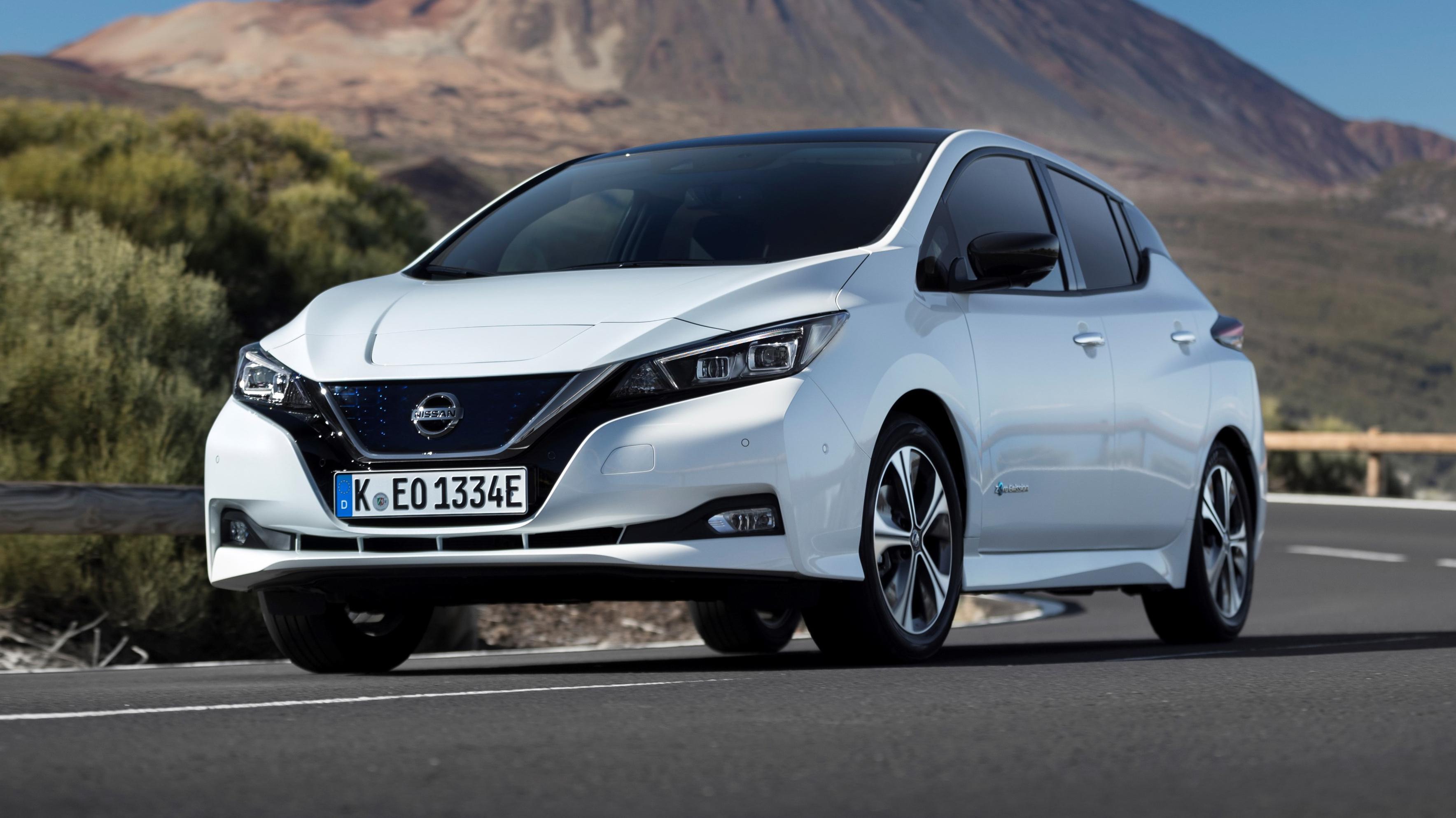 Nissan Leaf front three quarters