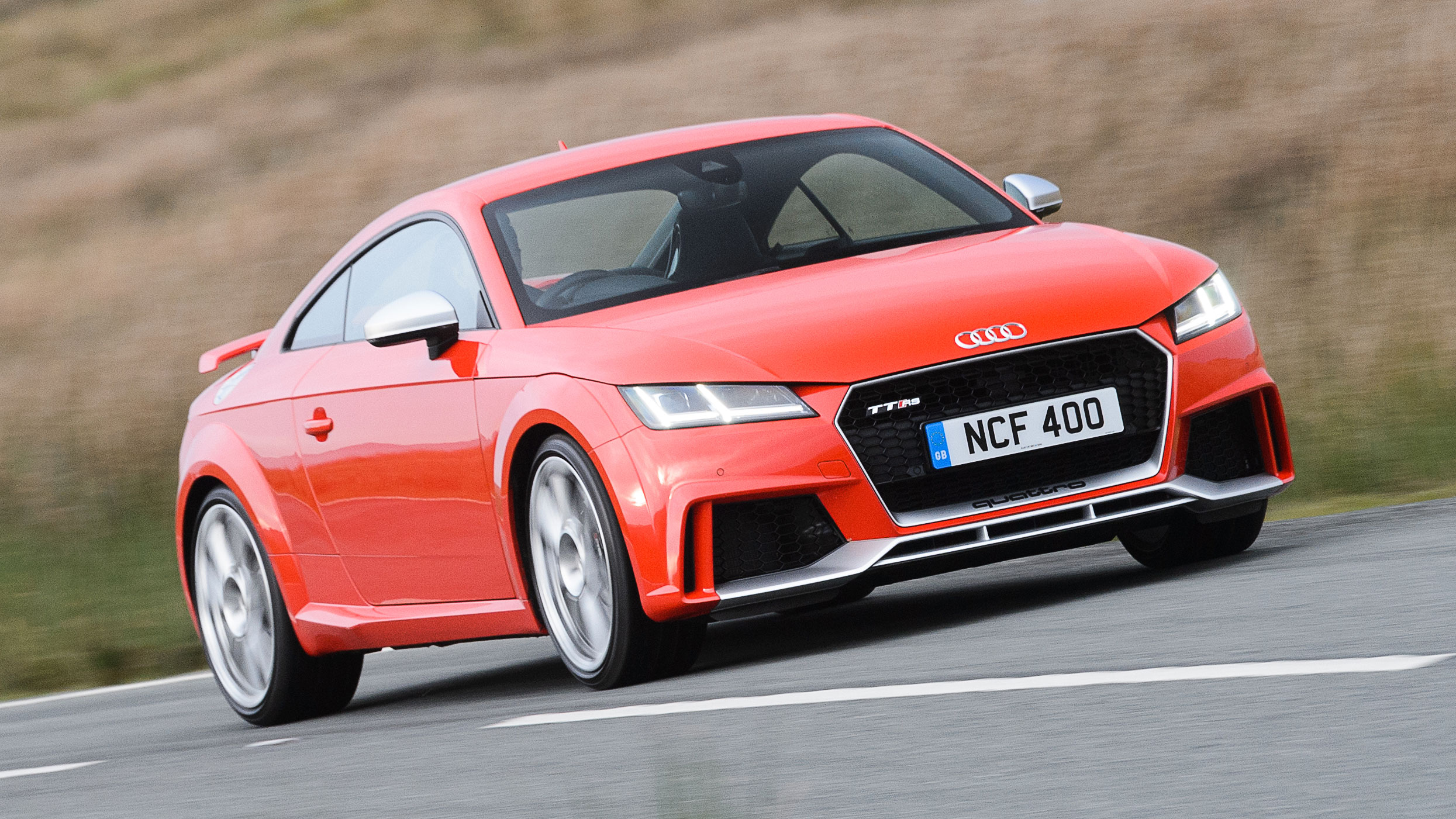 Audi Tt Rs Review 400bhp Quattro Coupe Driven In The Uk 2016 2018 Top Gear