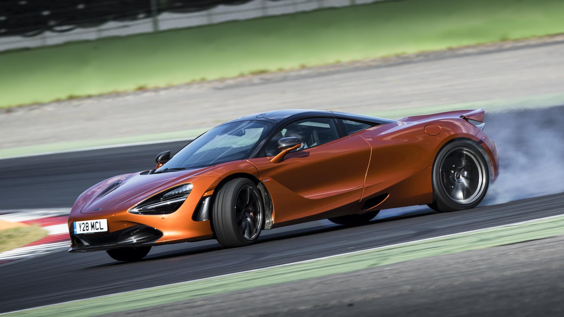 McLaren 720s orange side