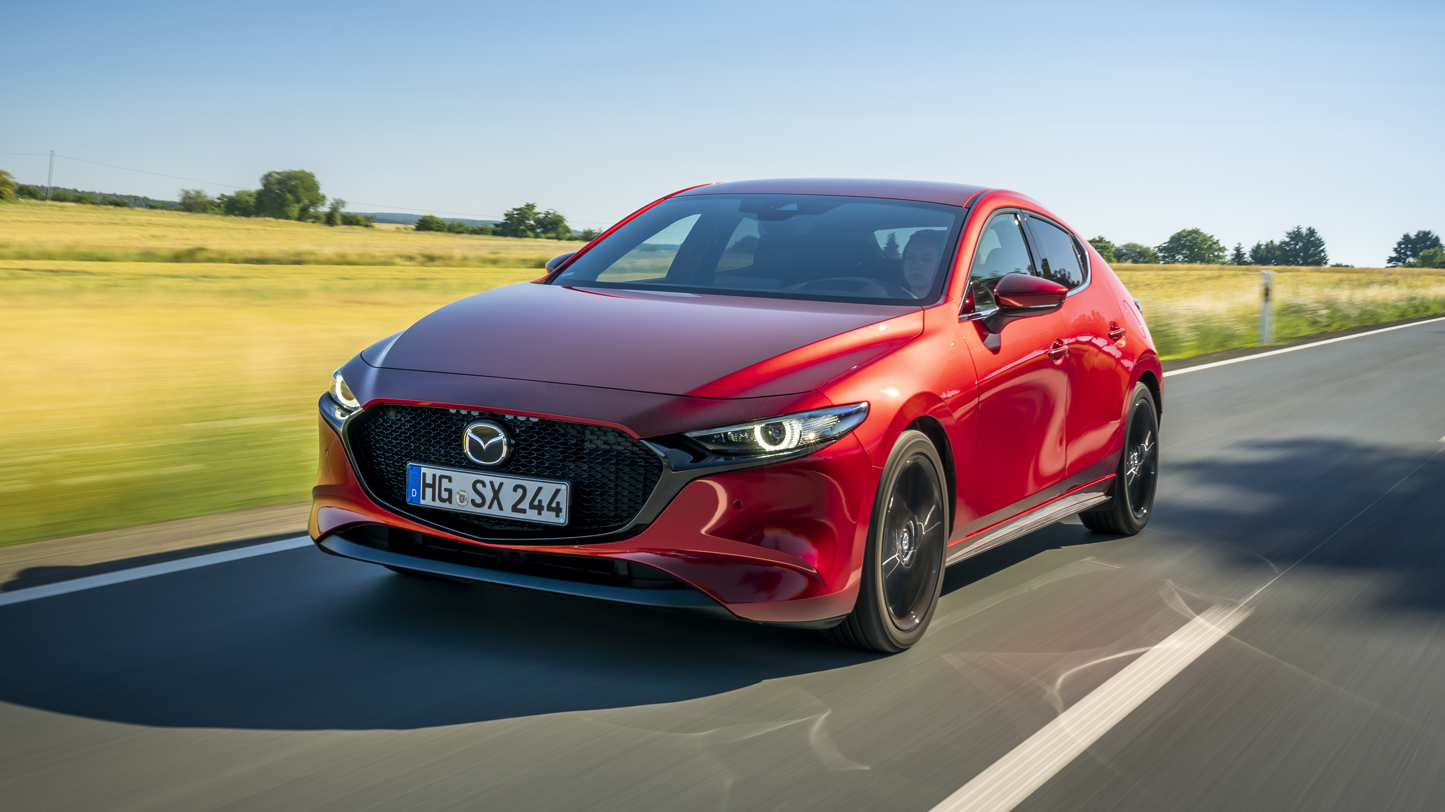 Mazda3 review: clever Skyactiv-X engine tested | Top Gear
