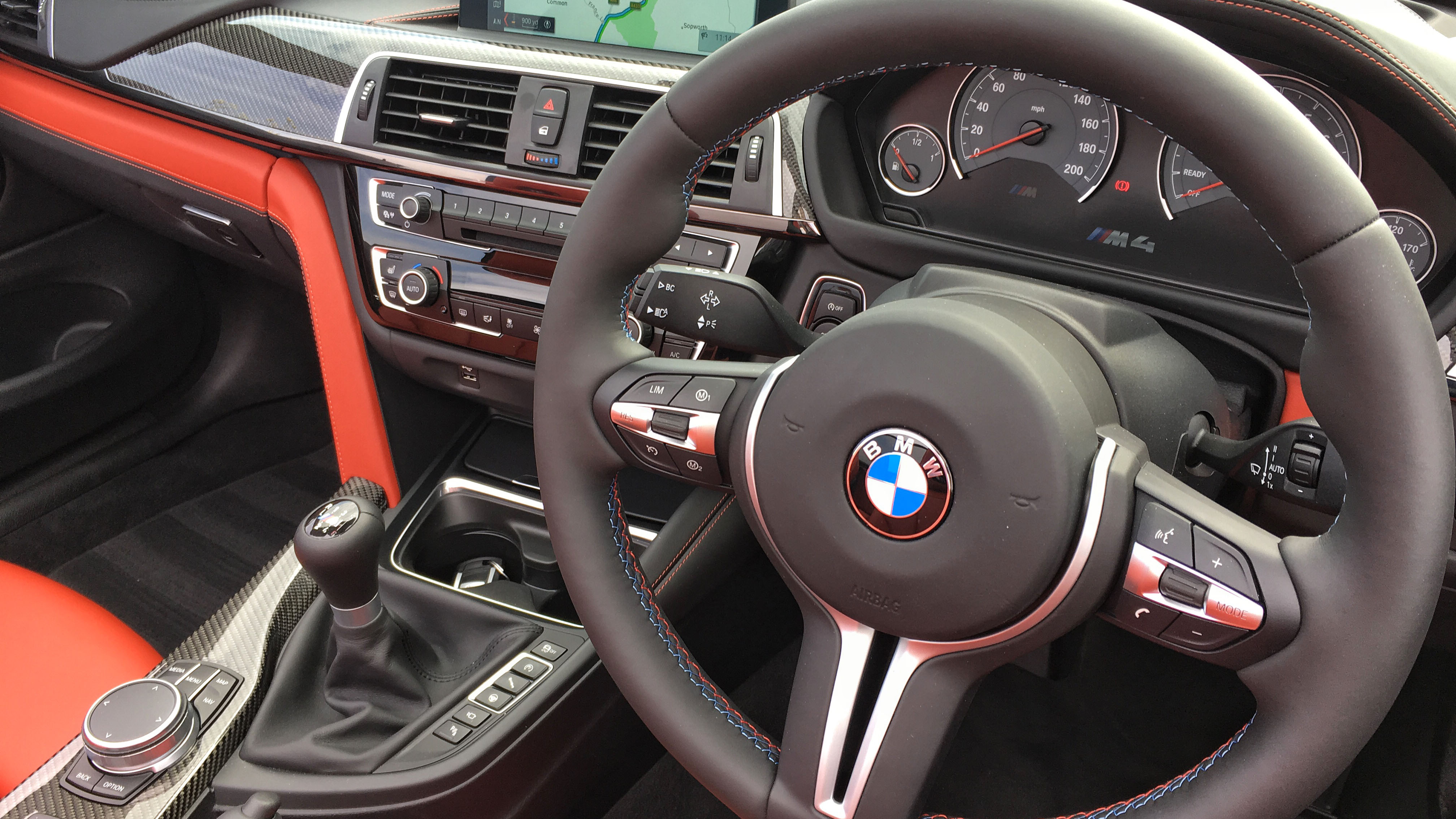 BMW M4 Competition Convertible interior steering wheel