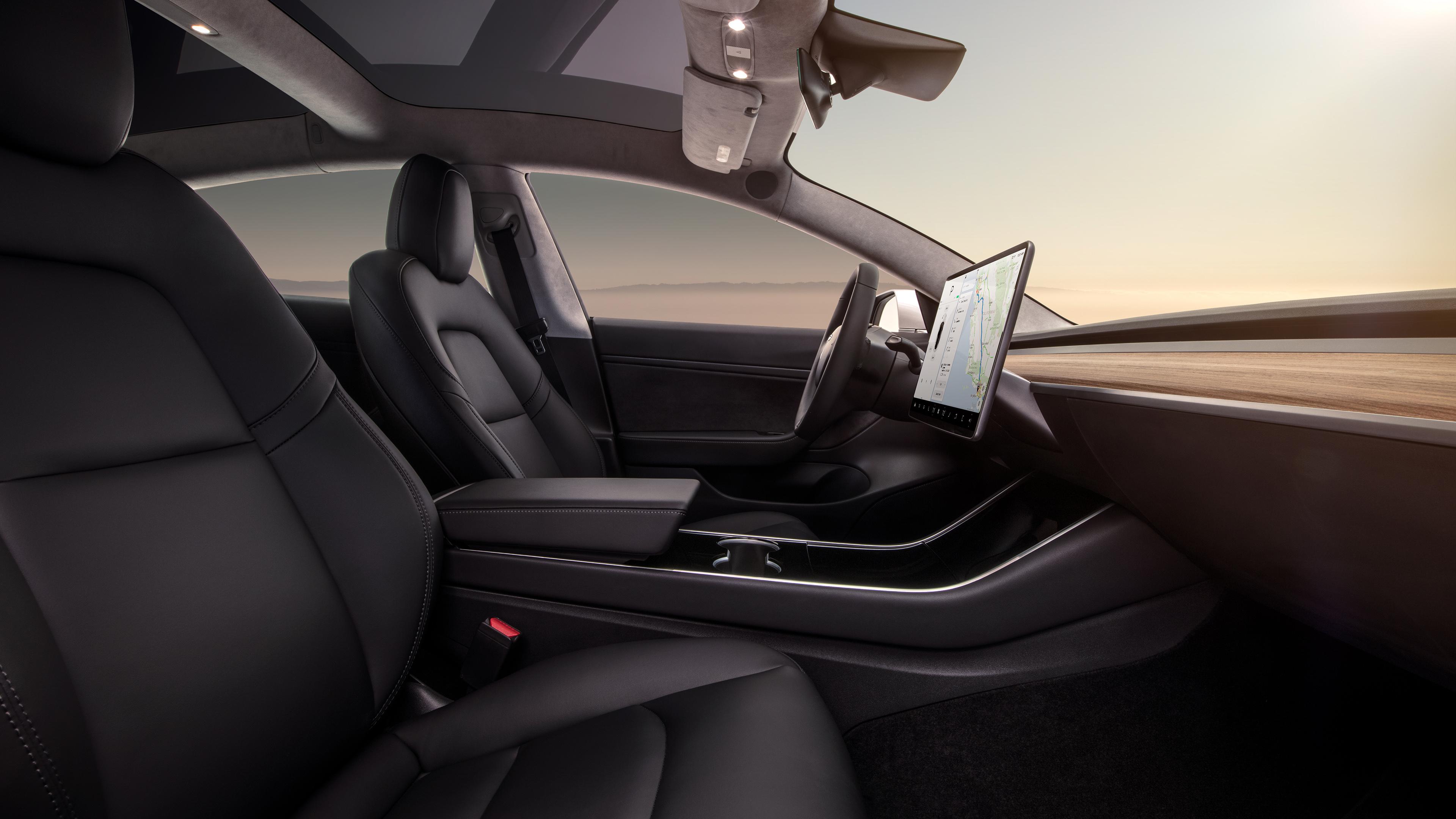 Tesla Model 3 interior front
