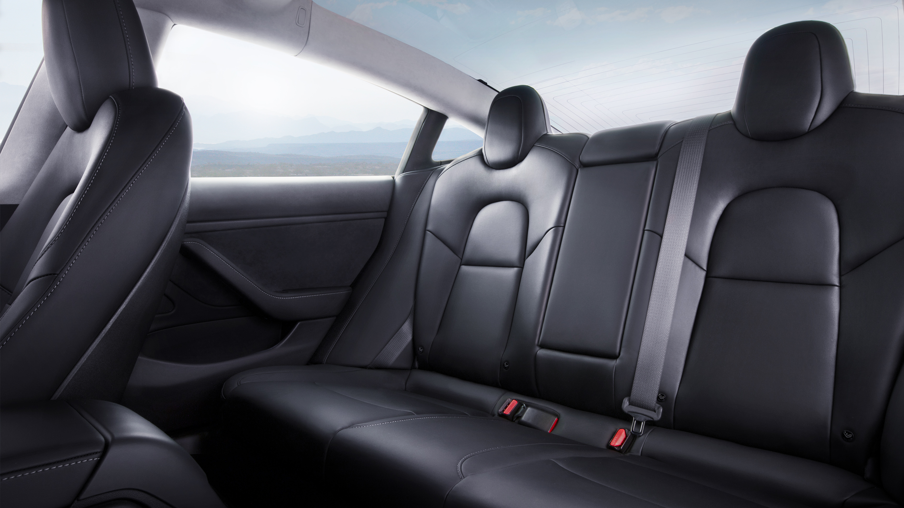 Tesla Model 3 interior rear