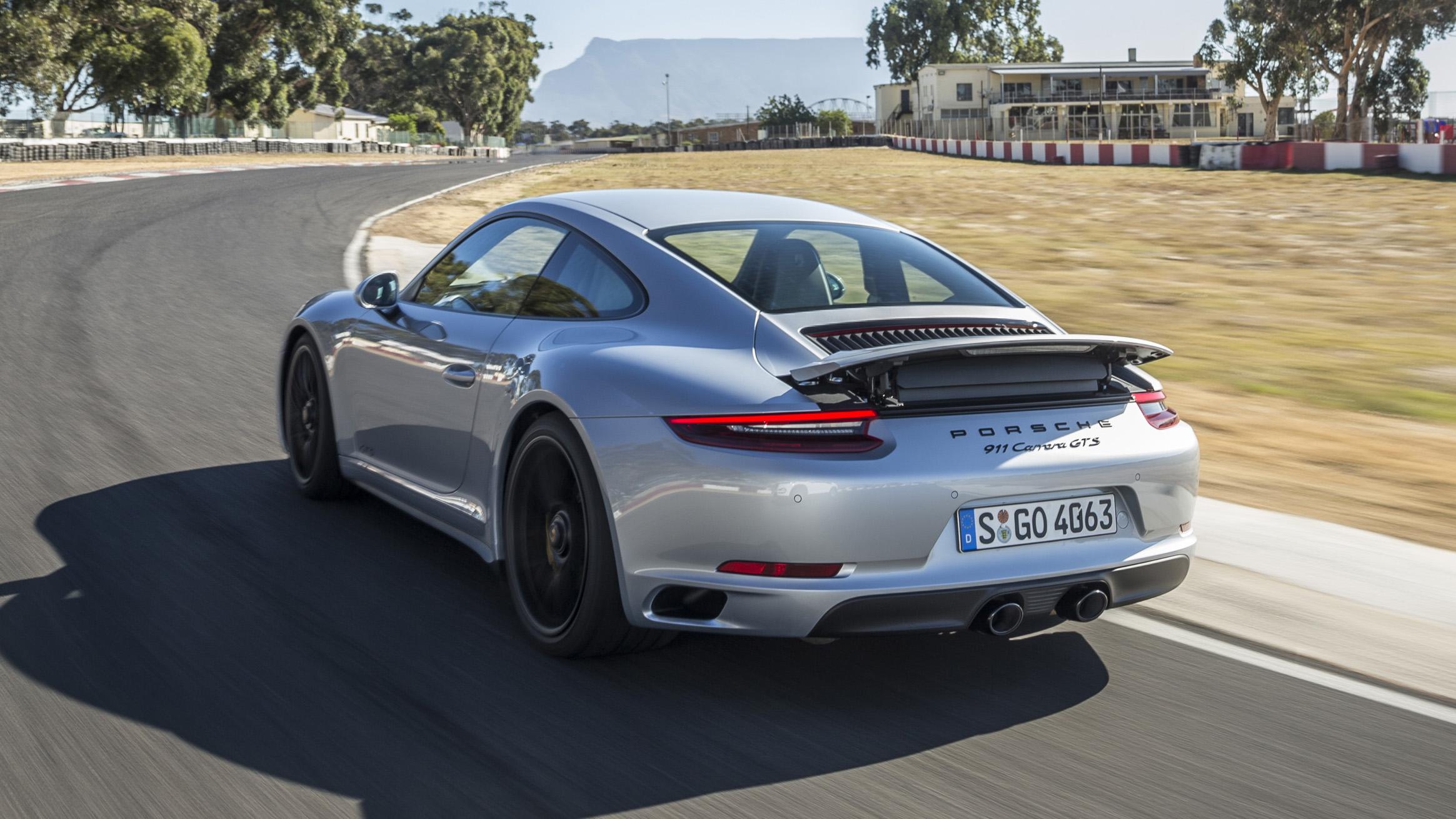 Porsche 911 GTS rear quarter