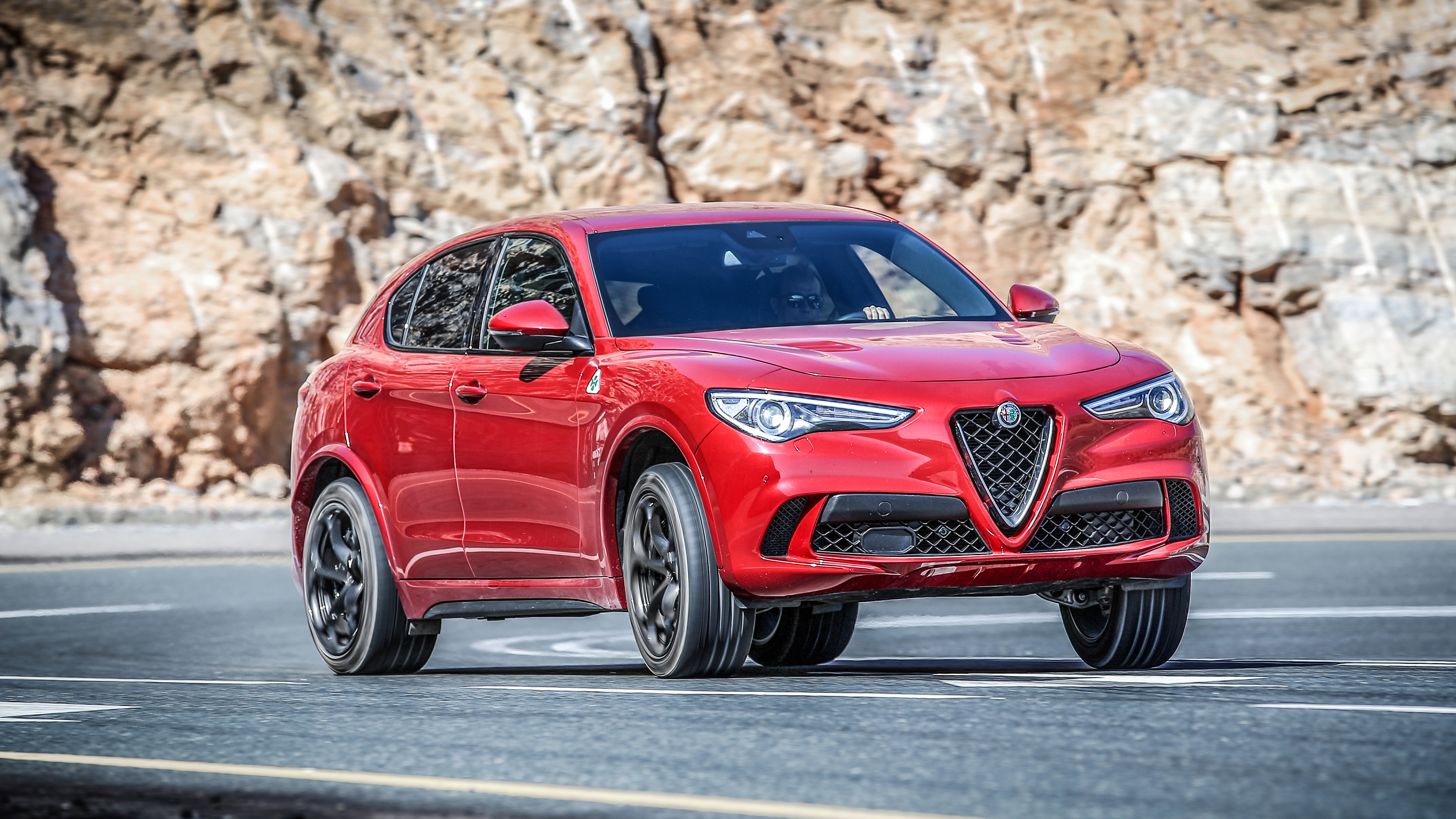 alfa romeo stelvio quadrifoglio review a baby ferrari super suv top gear. Black Bedroom Furniture Sets. Home Design Ideas
