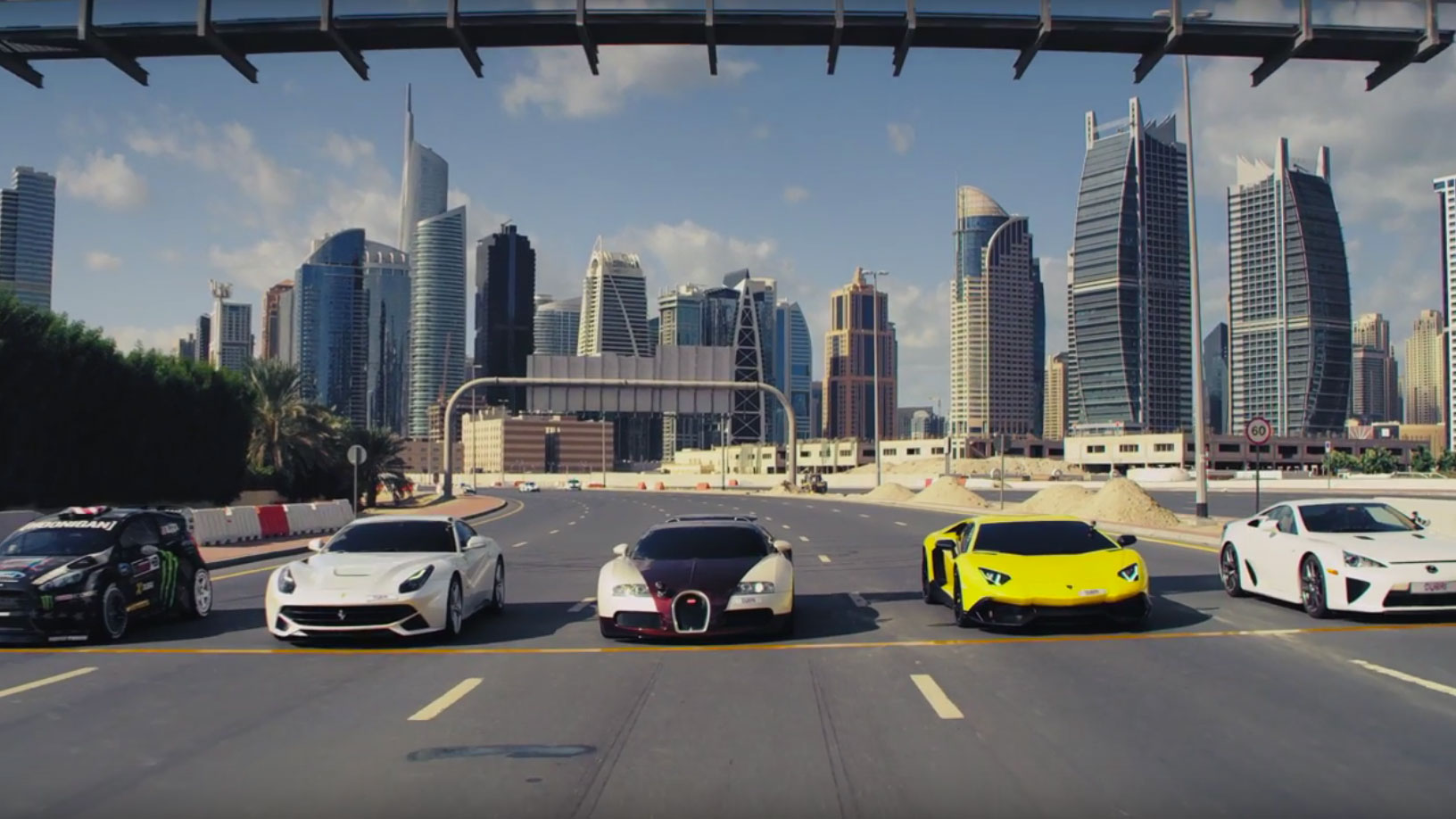 Watch dubai s police cars play f f top gear for Ec harris dubai