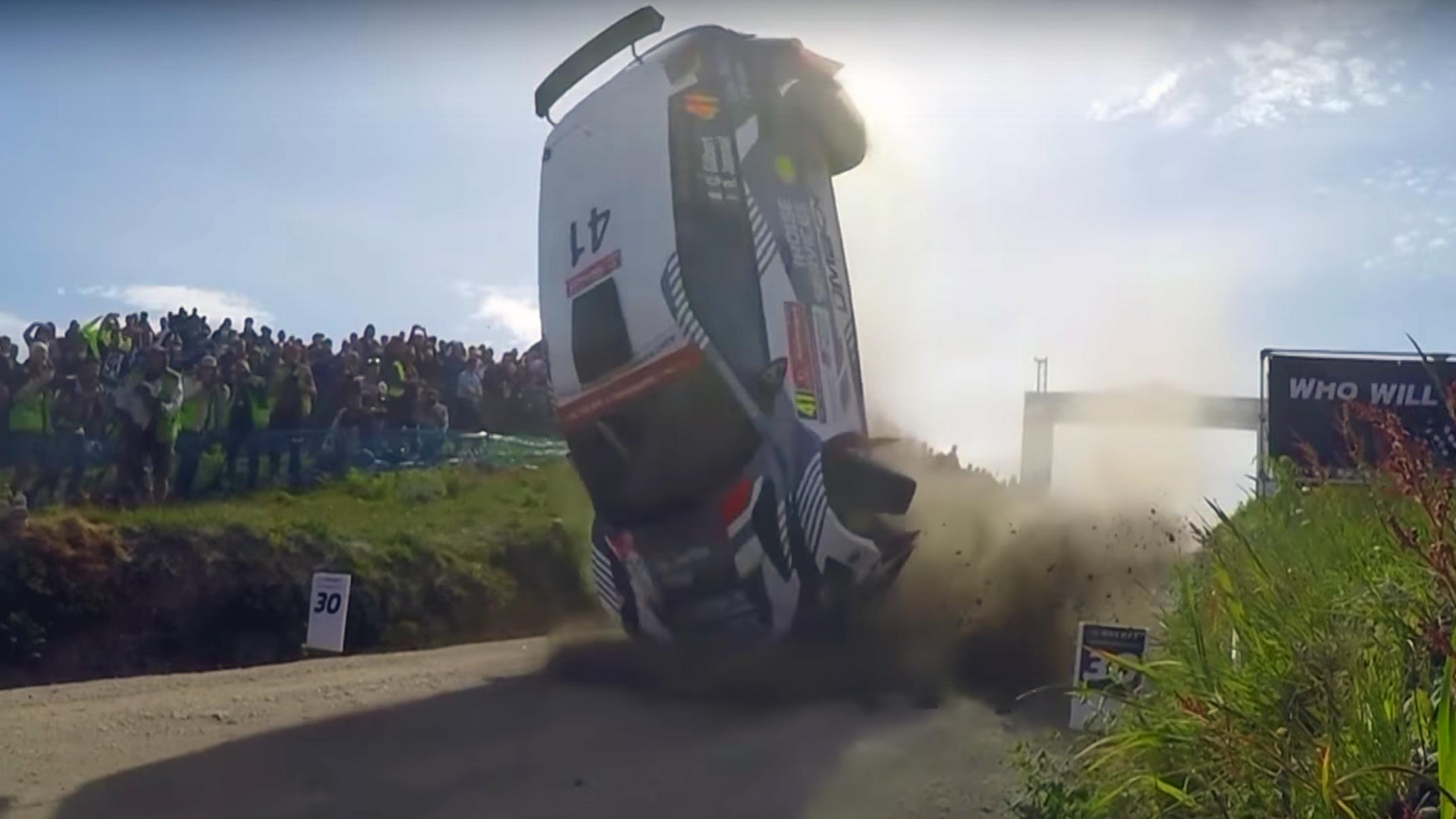Quentin Gilbert WRC-2 crash