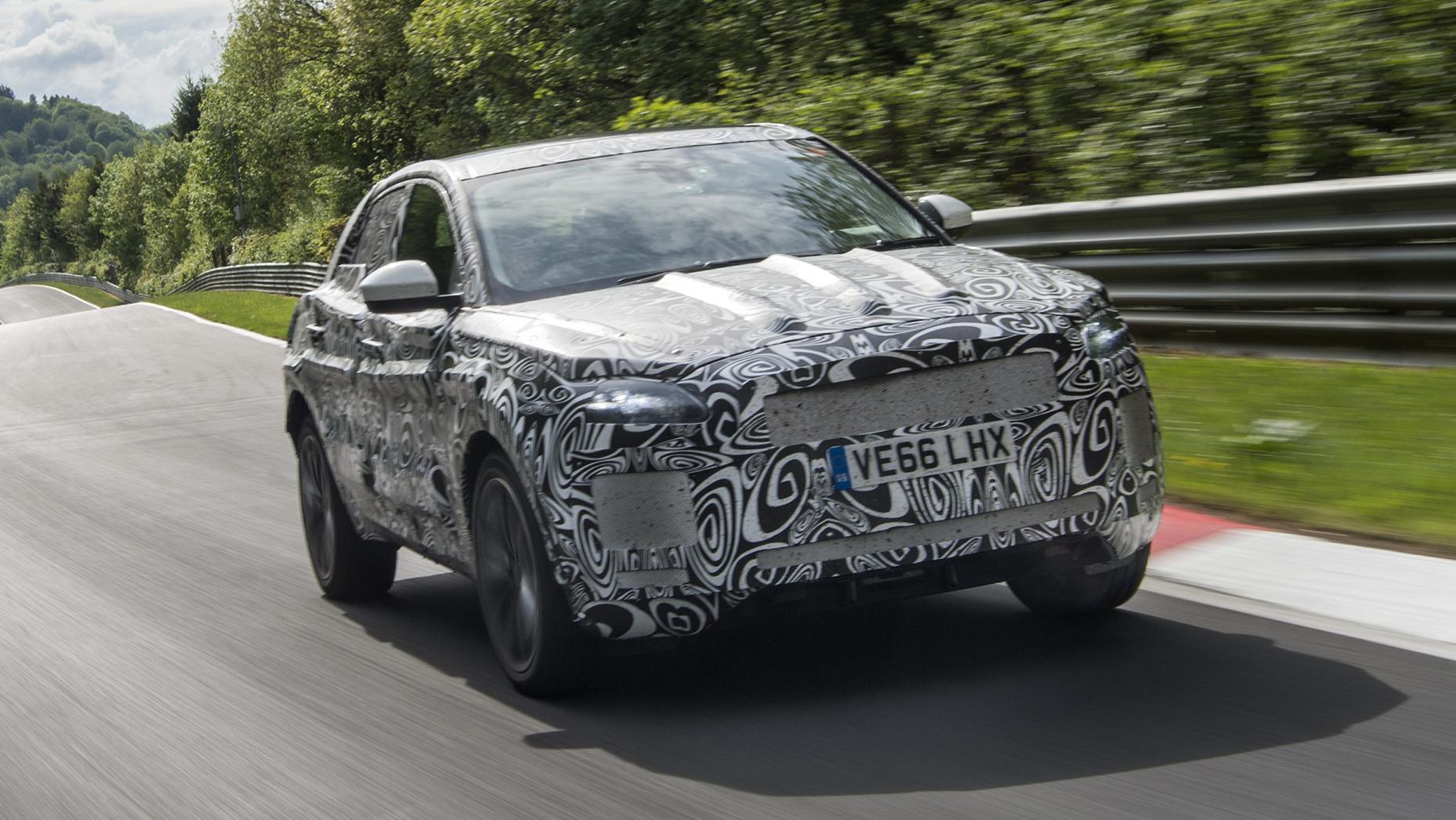 Jaguar E-Pace camo nurburgring