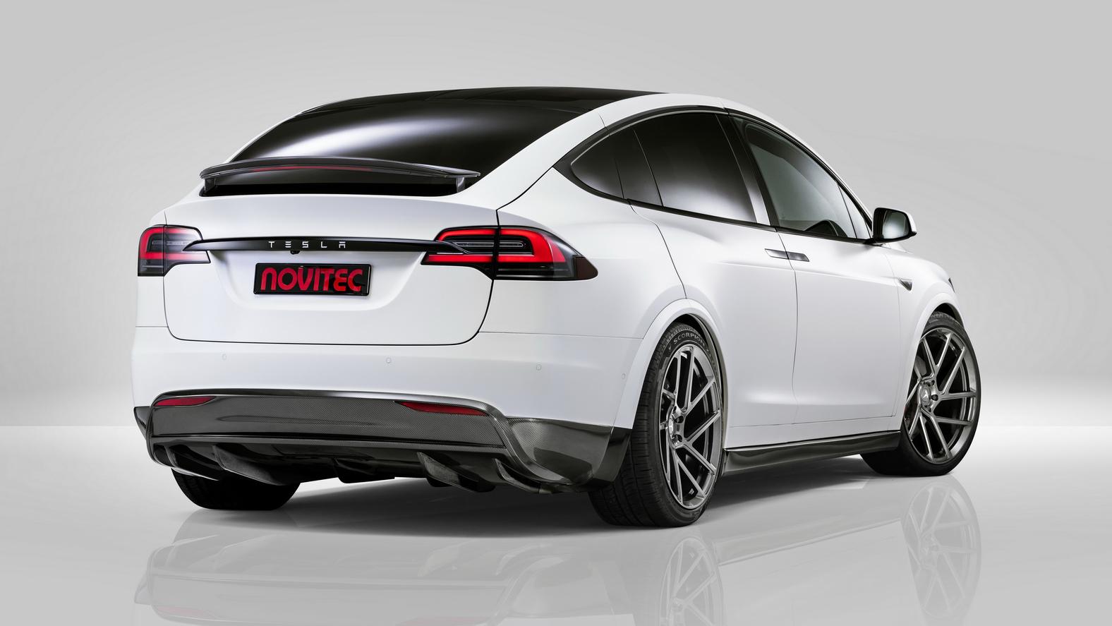 Tuned Tesla Model X rear quarter
