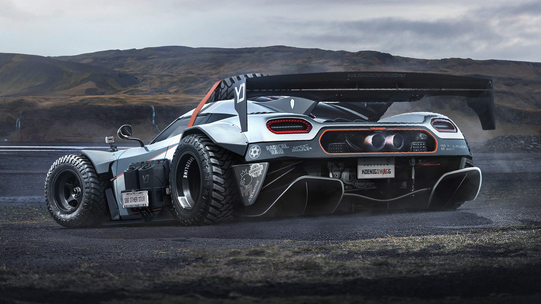 Koenigsegg off-road render rear quarter