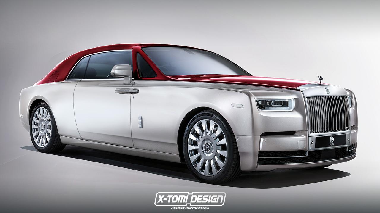 Rolls Royce Phantom Coupe render front quarter