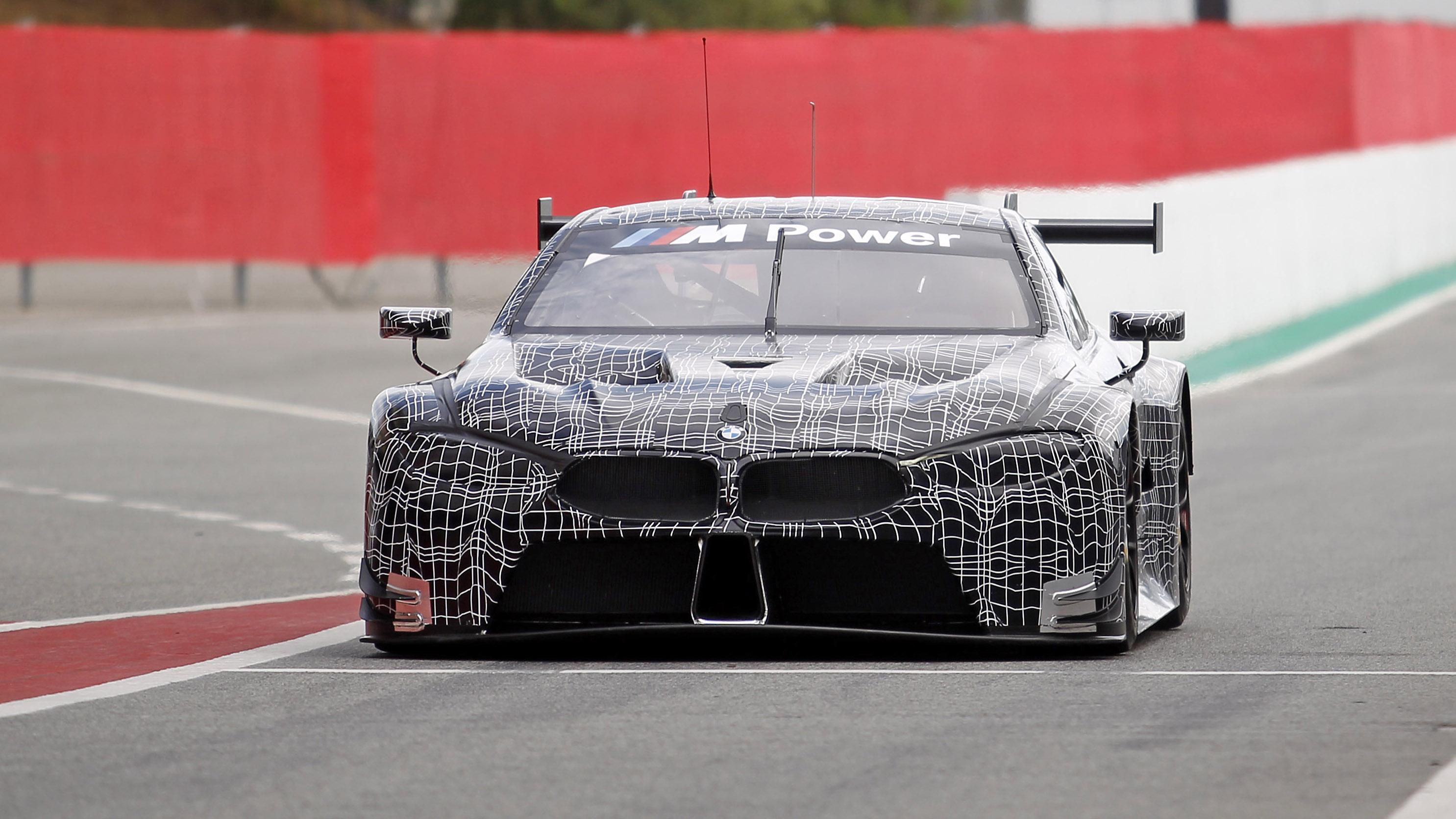BMW M8 Le Mans car front
