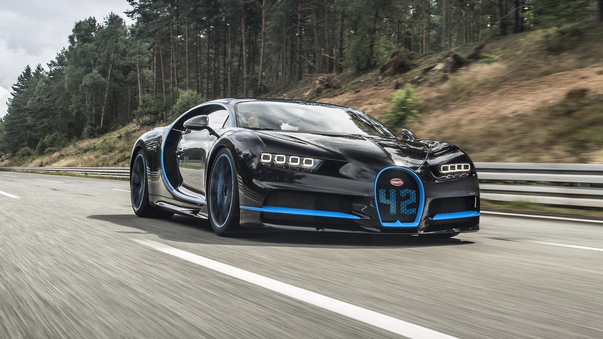 Bugatti Chiron record breaker front