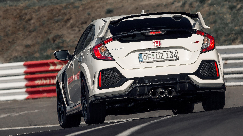Honda Civic Type R Nurburgring car rear