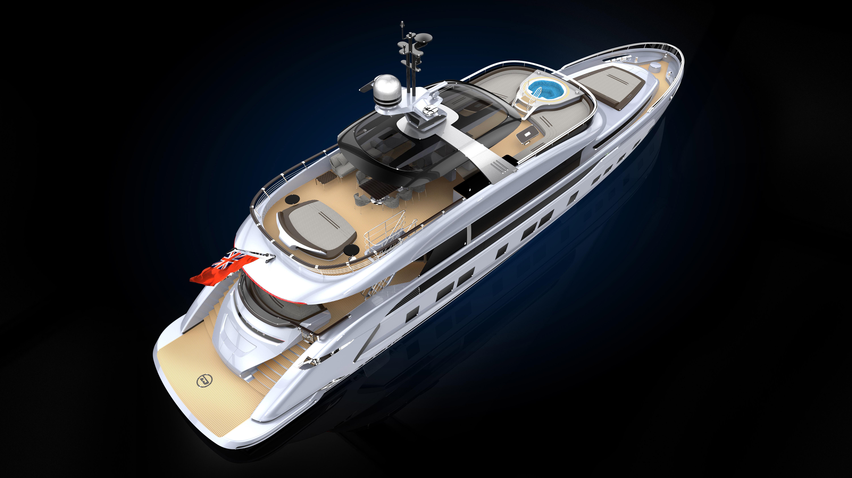 Porsche superyacht with dynamiq