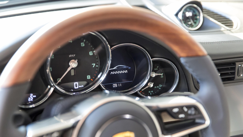 Porsche 911 one millionth steering wheel