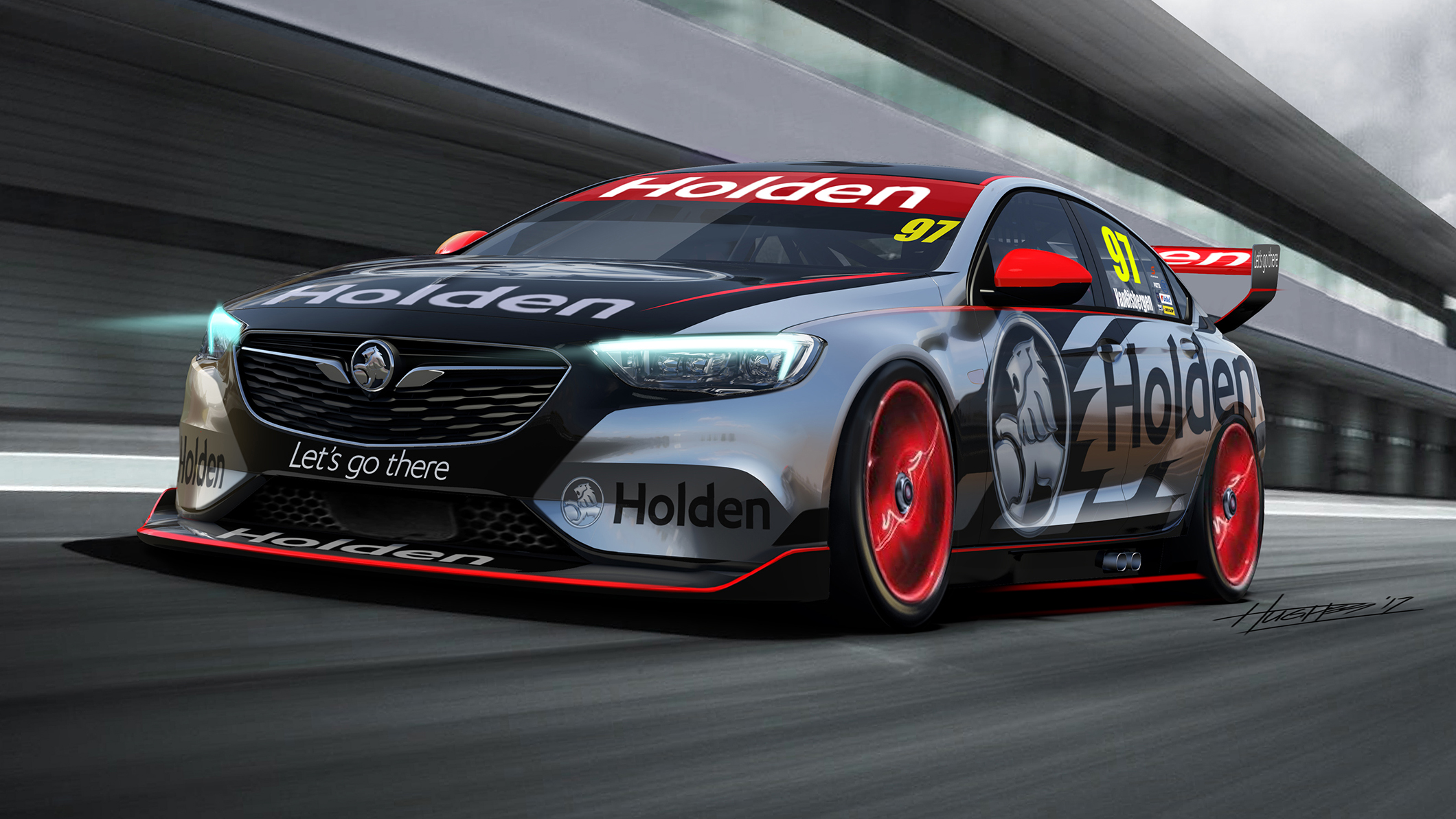 Holden Commodore front quarter