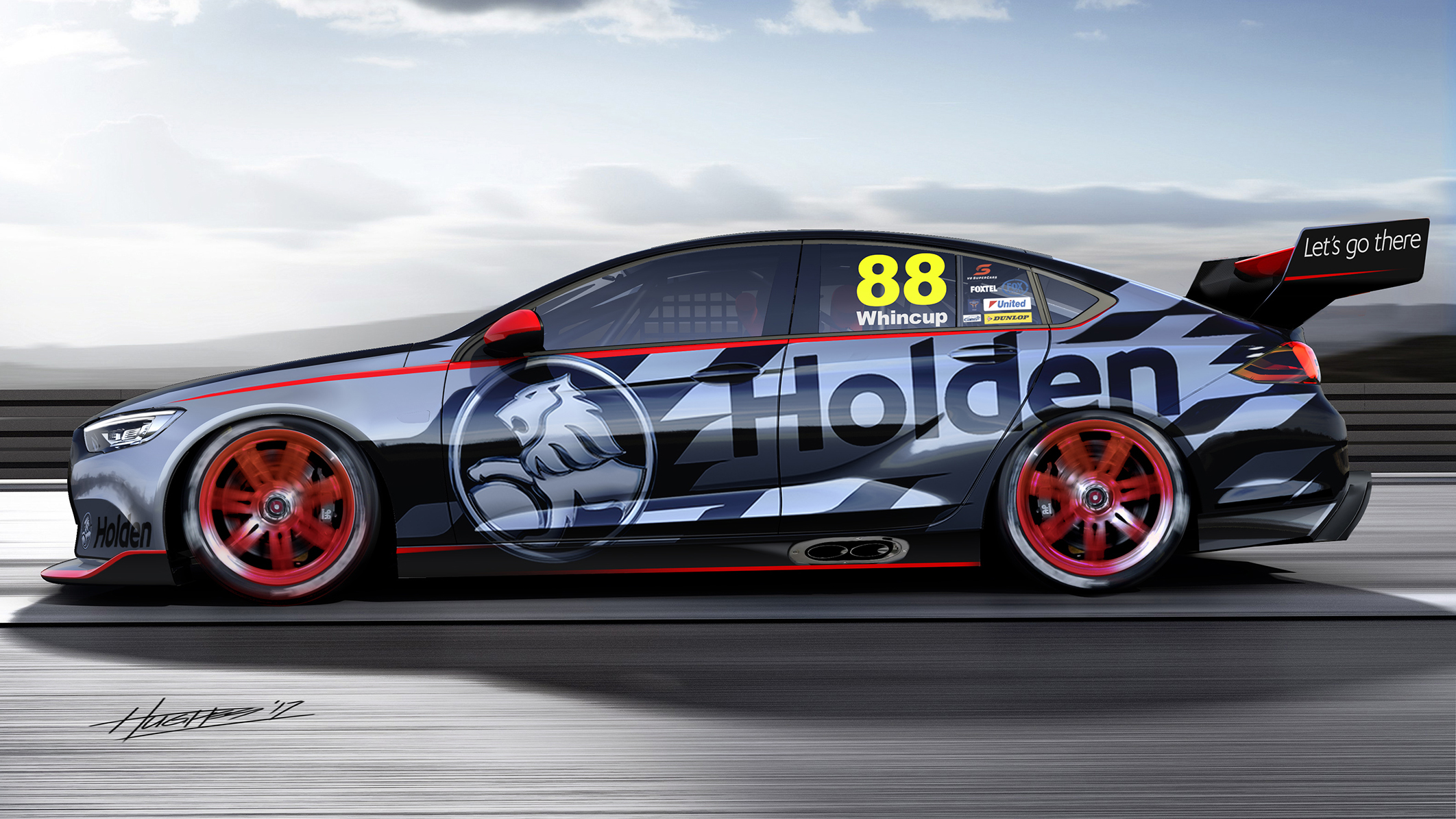 Holden Commodore side