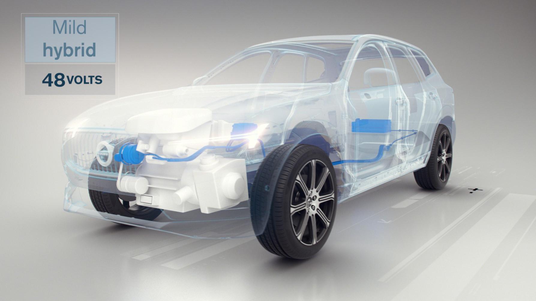Volvo mild hybrid engine