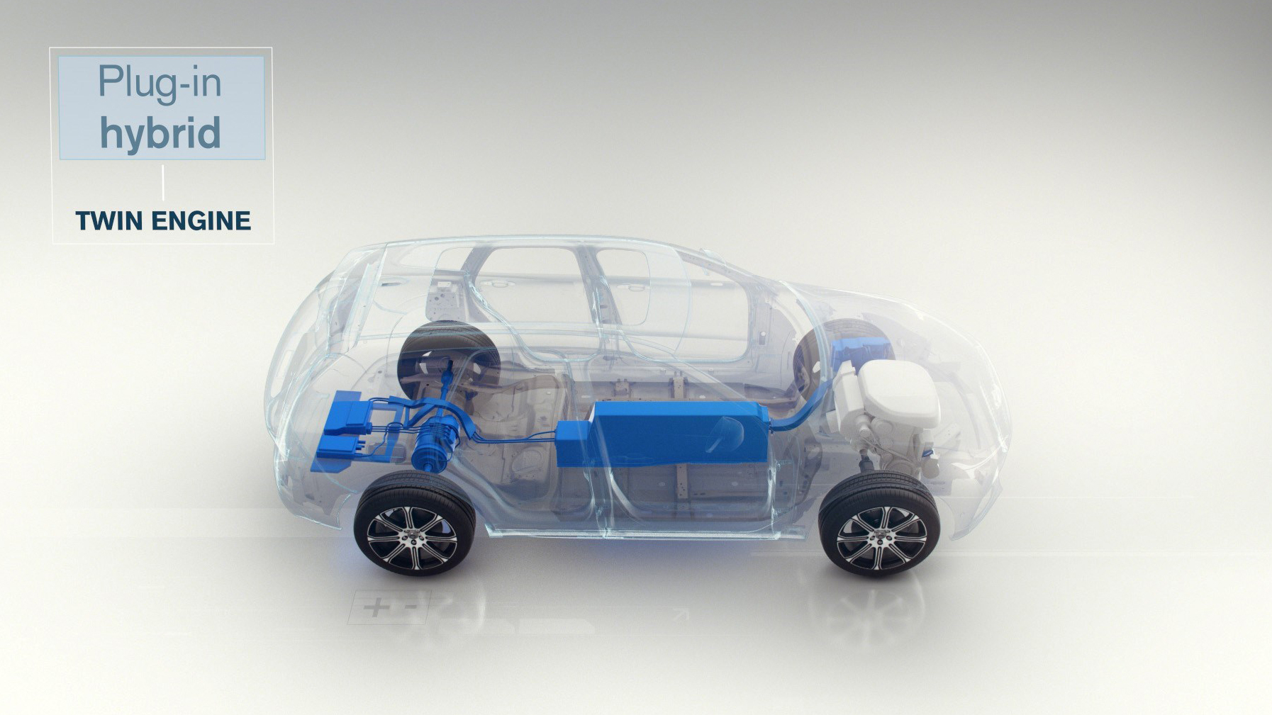 Volvo hybrid plug in engine