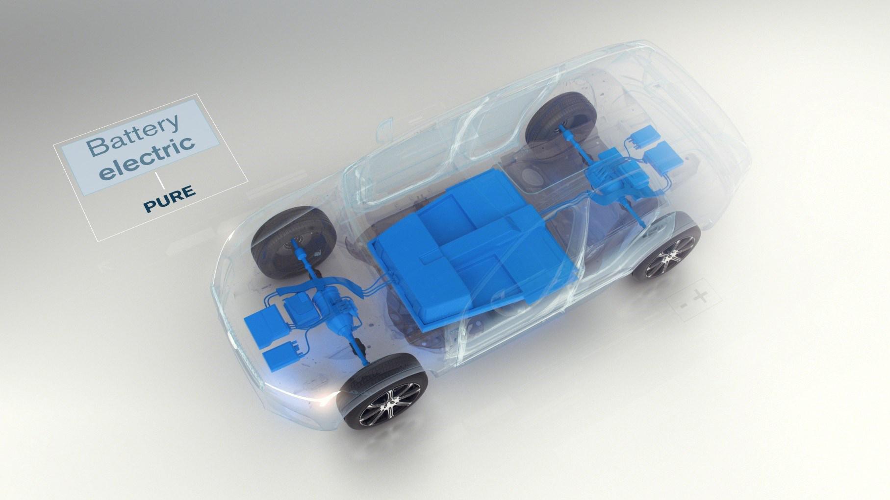 Volvo pure hybrid engine