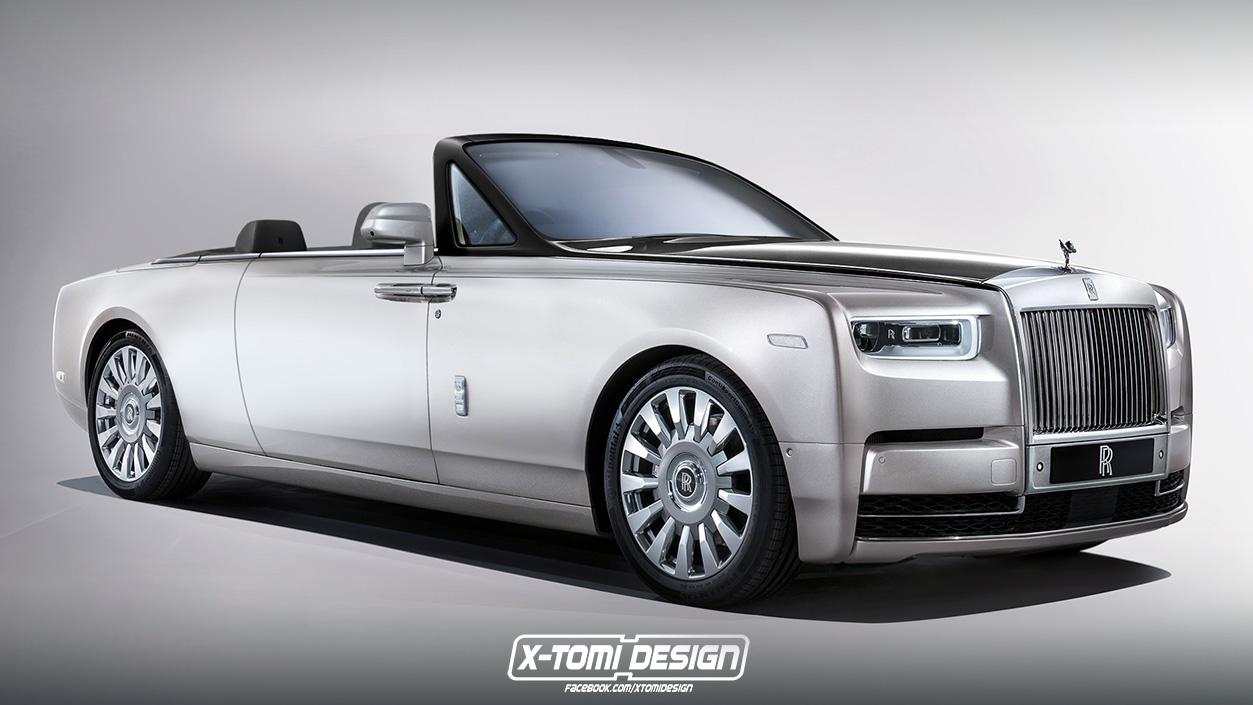 Rolls Royce Phantom convertible render