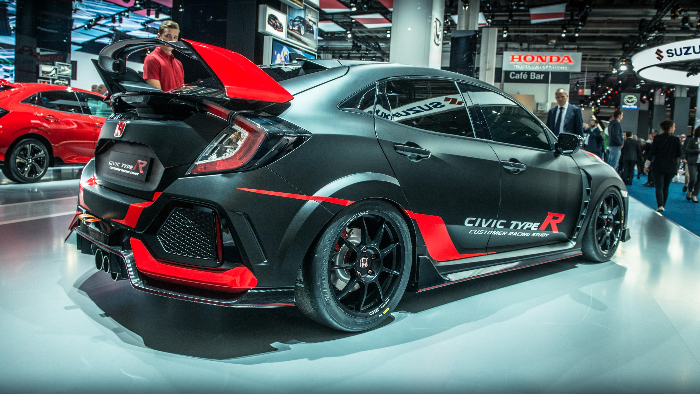It's a Honda Civic Type R customer racing car   Top Gear