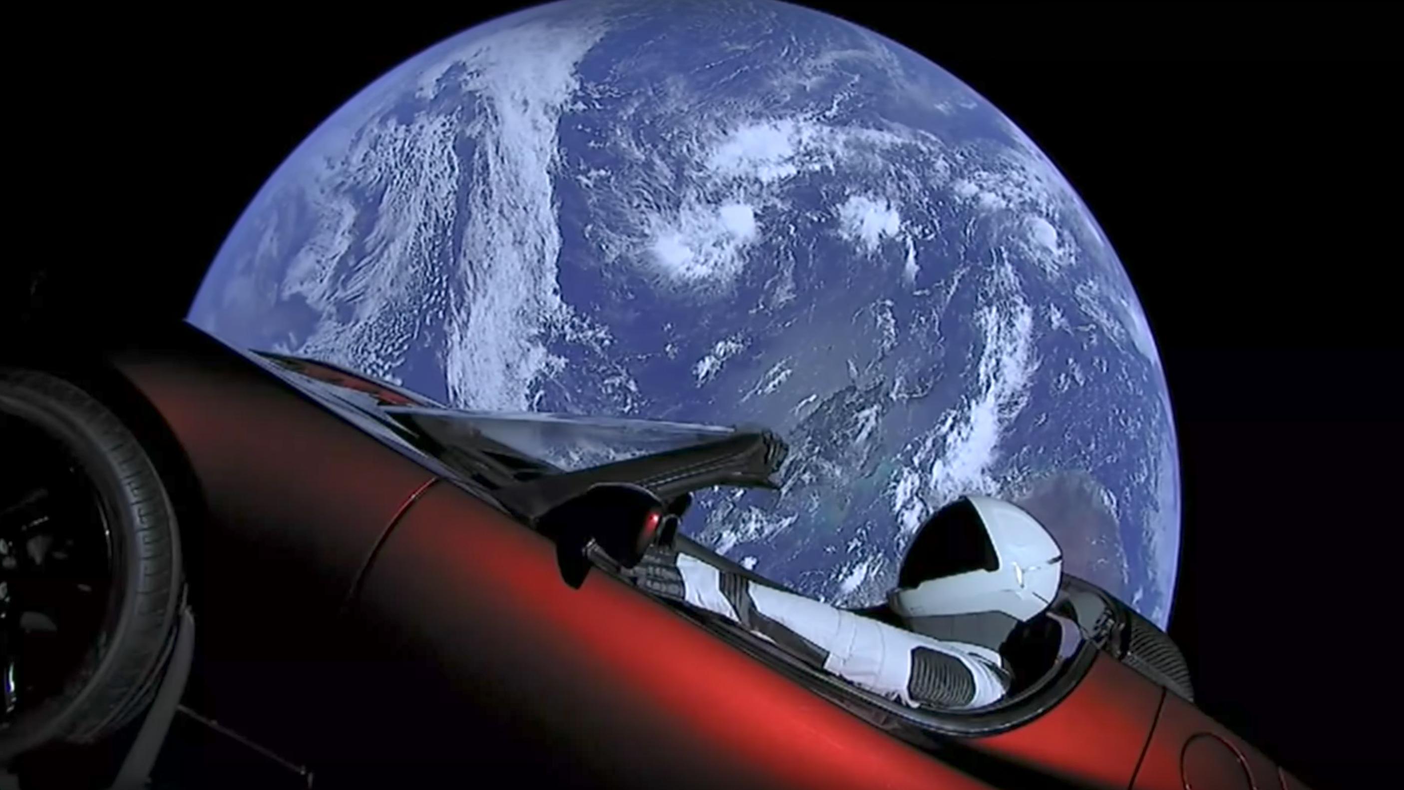 Elon Musk just sent his Tesla Roadster into space | Top Gear