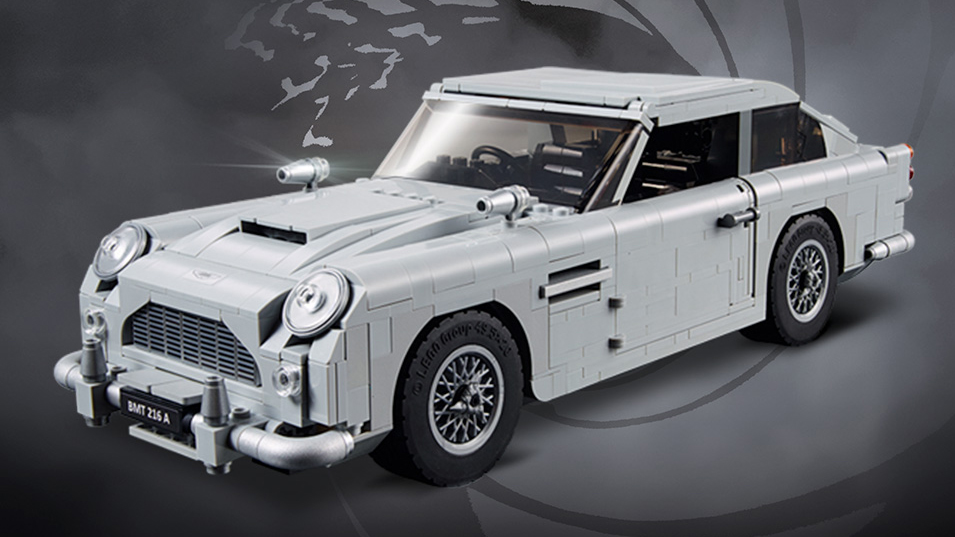 This is Lego's 1,290-piece Goldfinger Aston Martin DB5   Top Gear