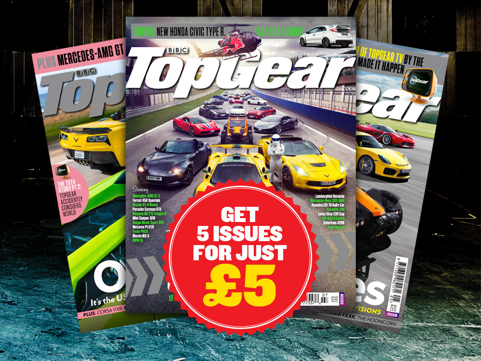 BBC Top Gear Magazine: get five issues for just five pounds.