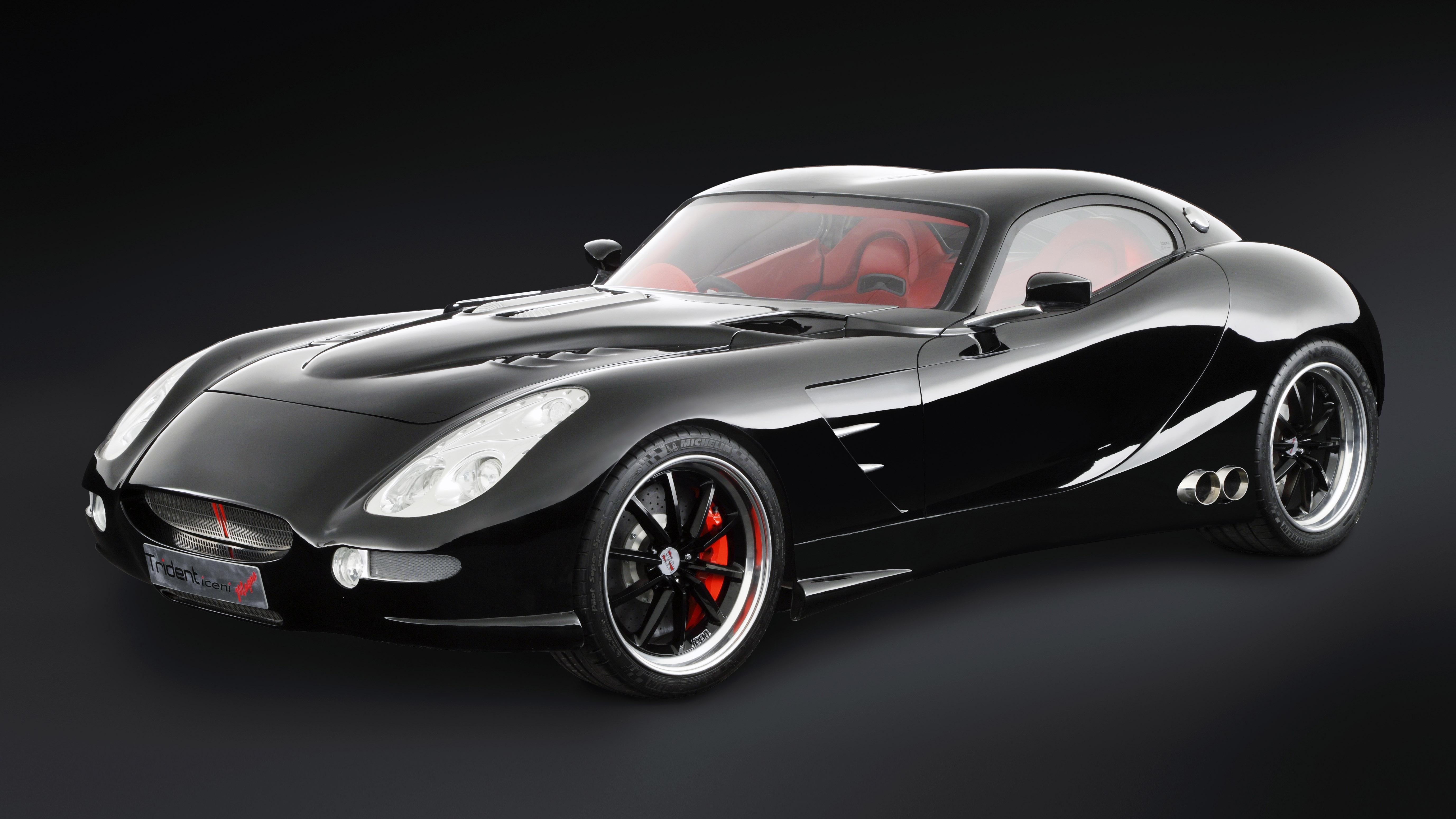 Trident Iceni supercar black front quarter