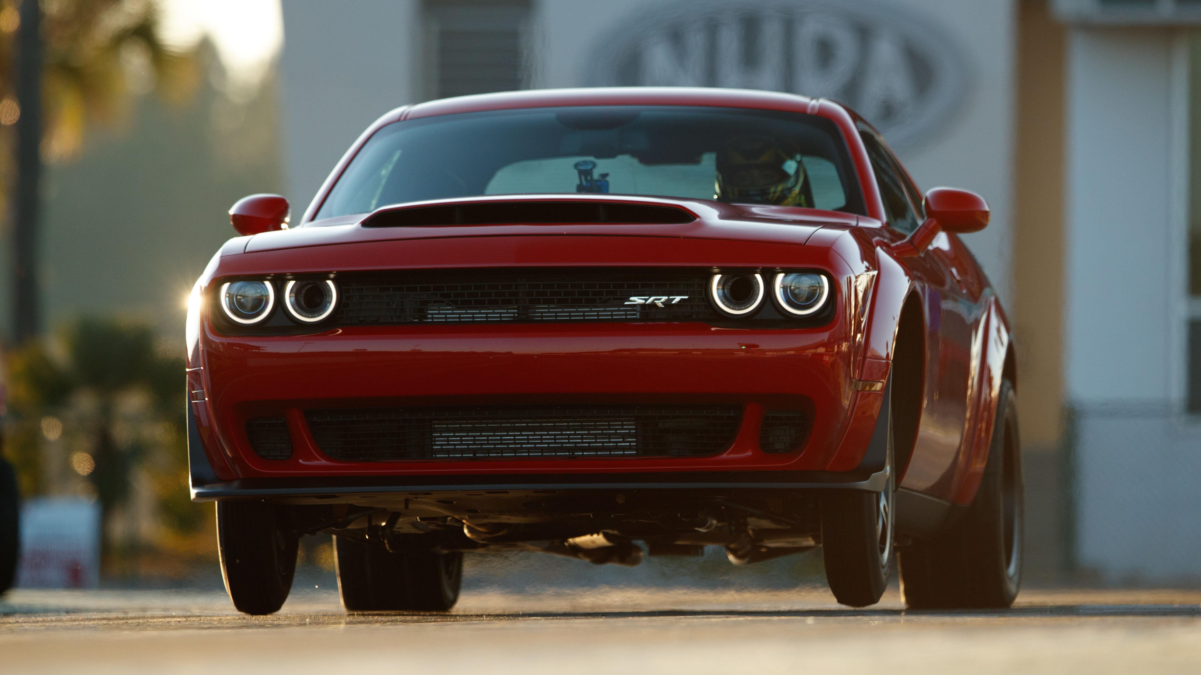 Dodge Demon front wheelie
