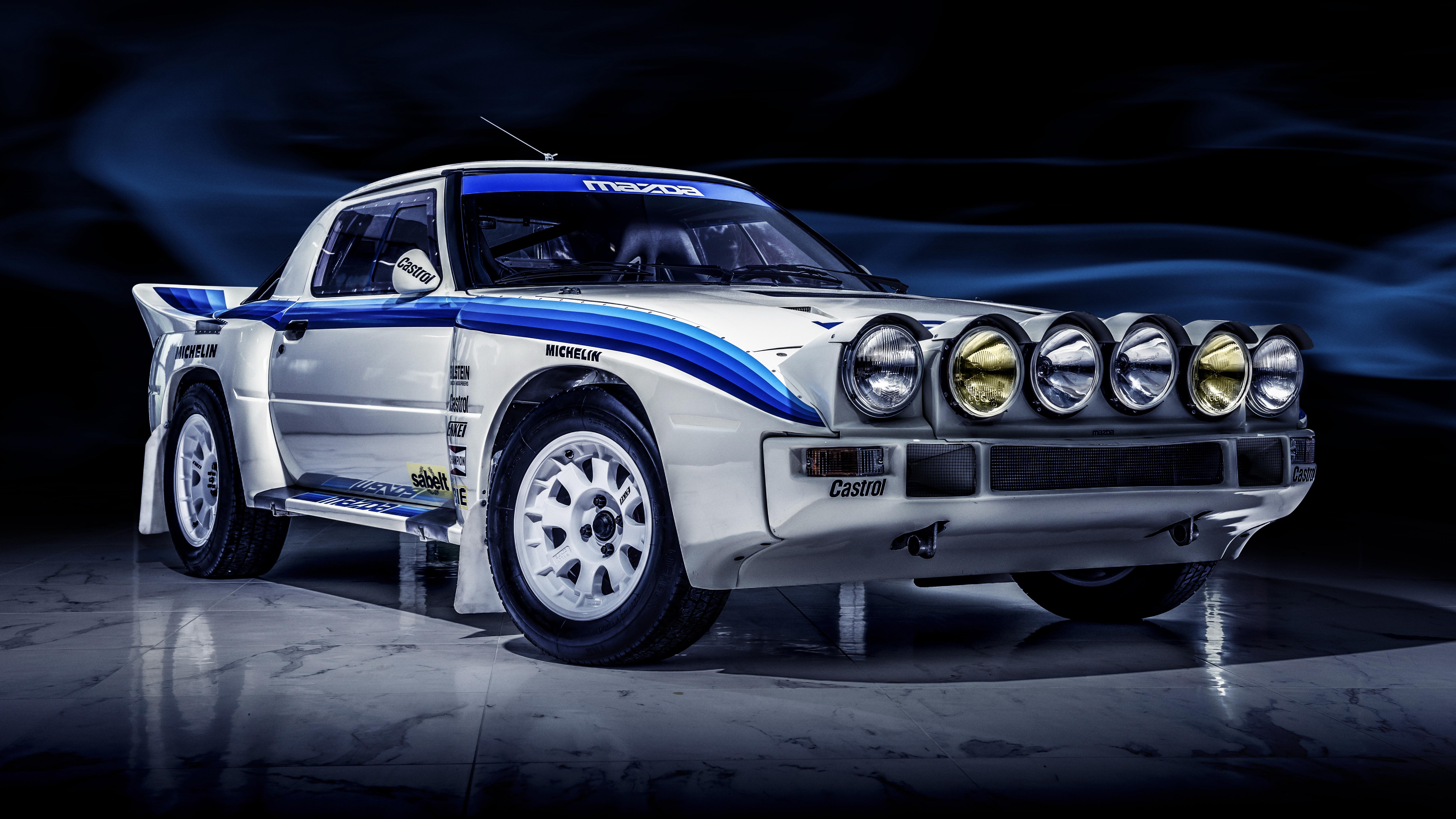 Mazda RX-7 Group B rally car front